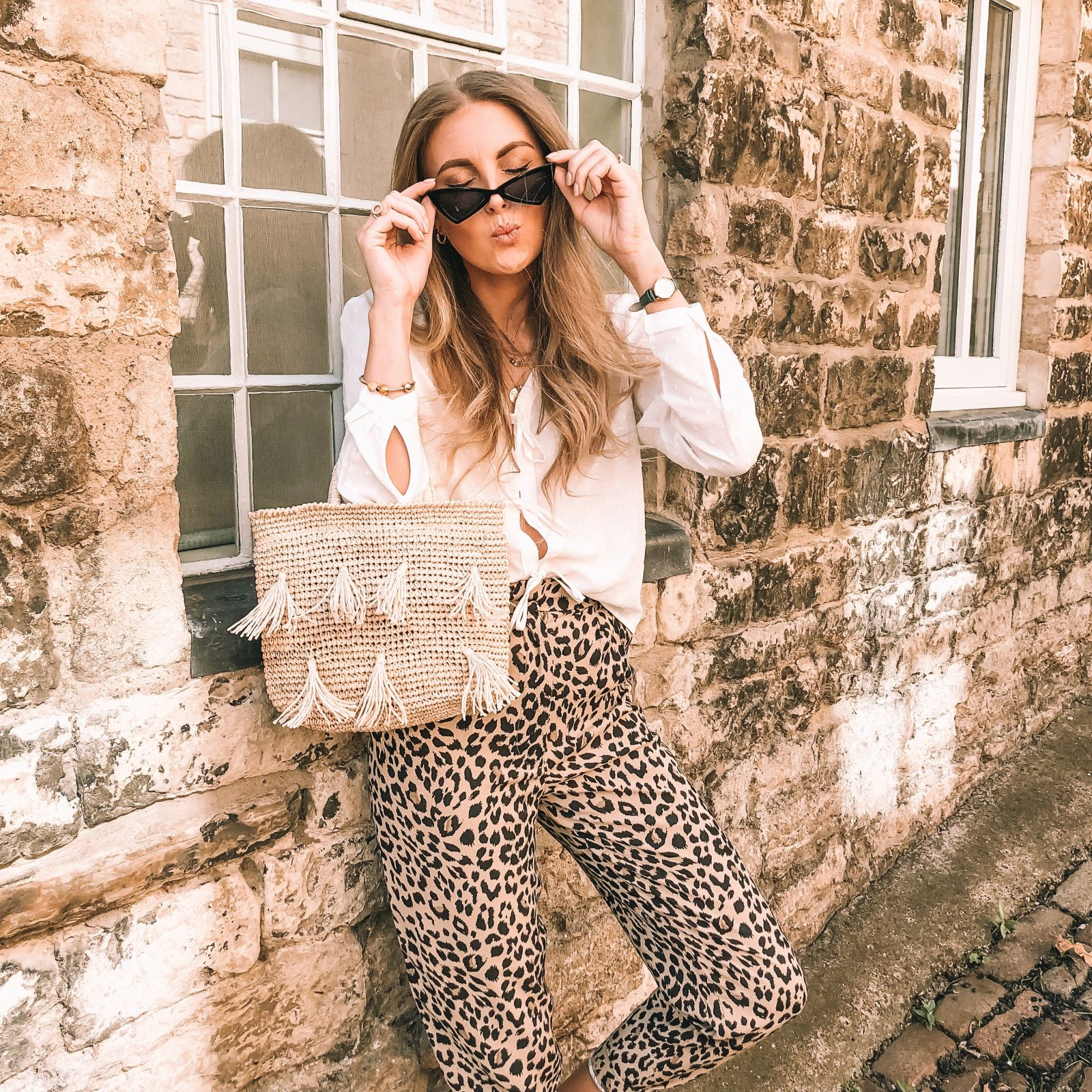 &Other Stories Leopard Print Trousers