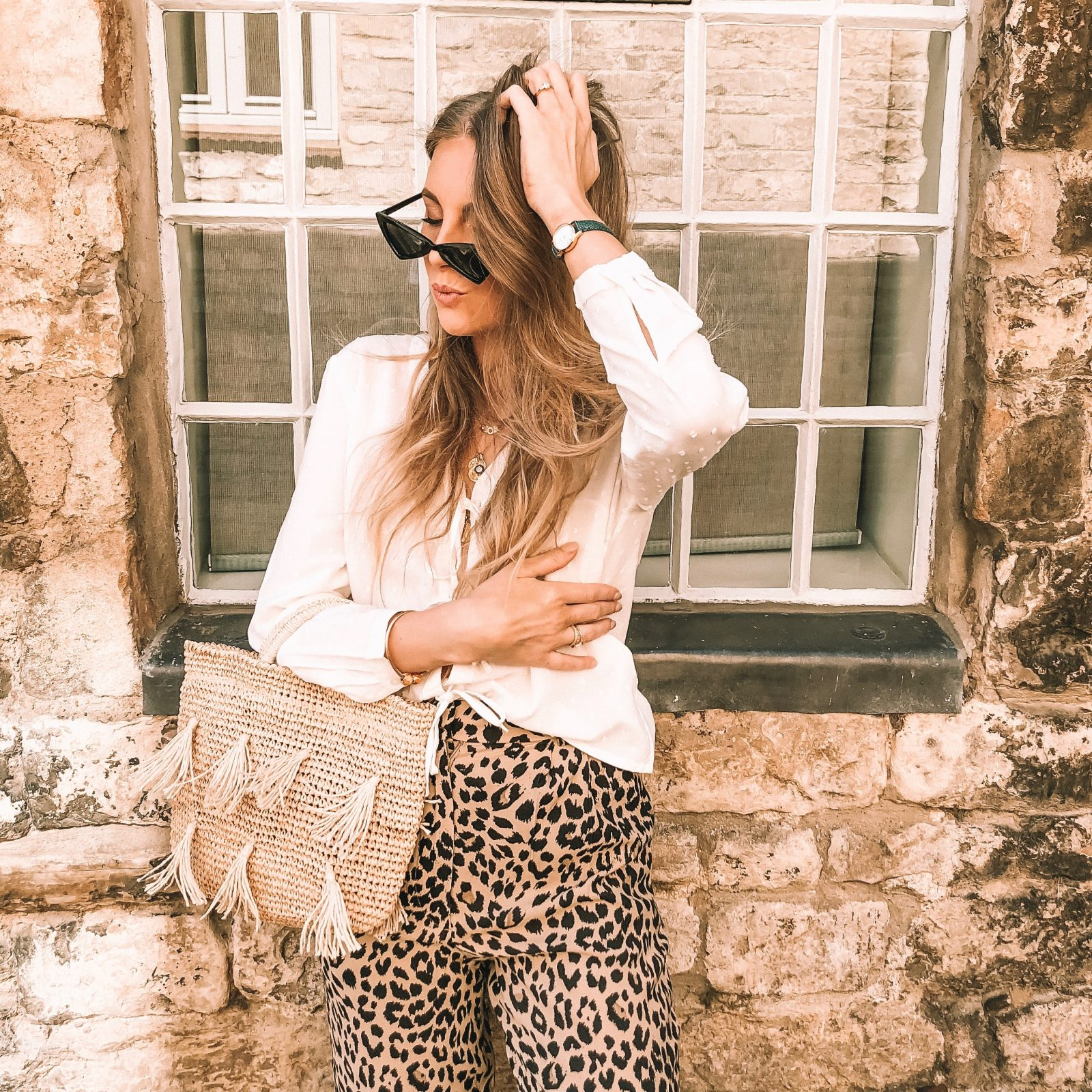 Leopard Print Trousers Summer Outfit Ideas
