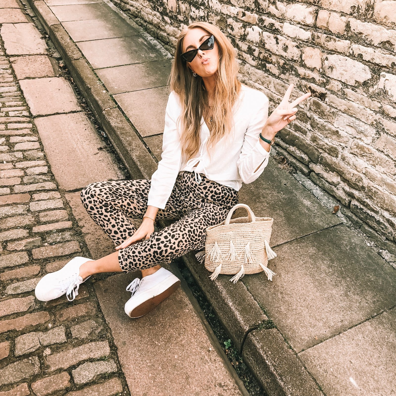 Summer Outfit Idea with Leopard print Trousers