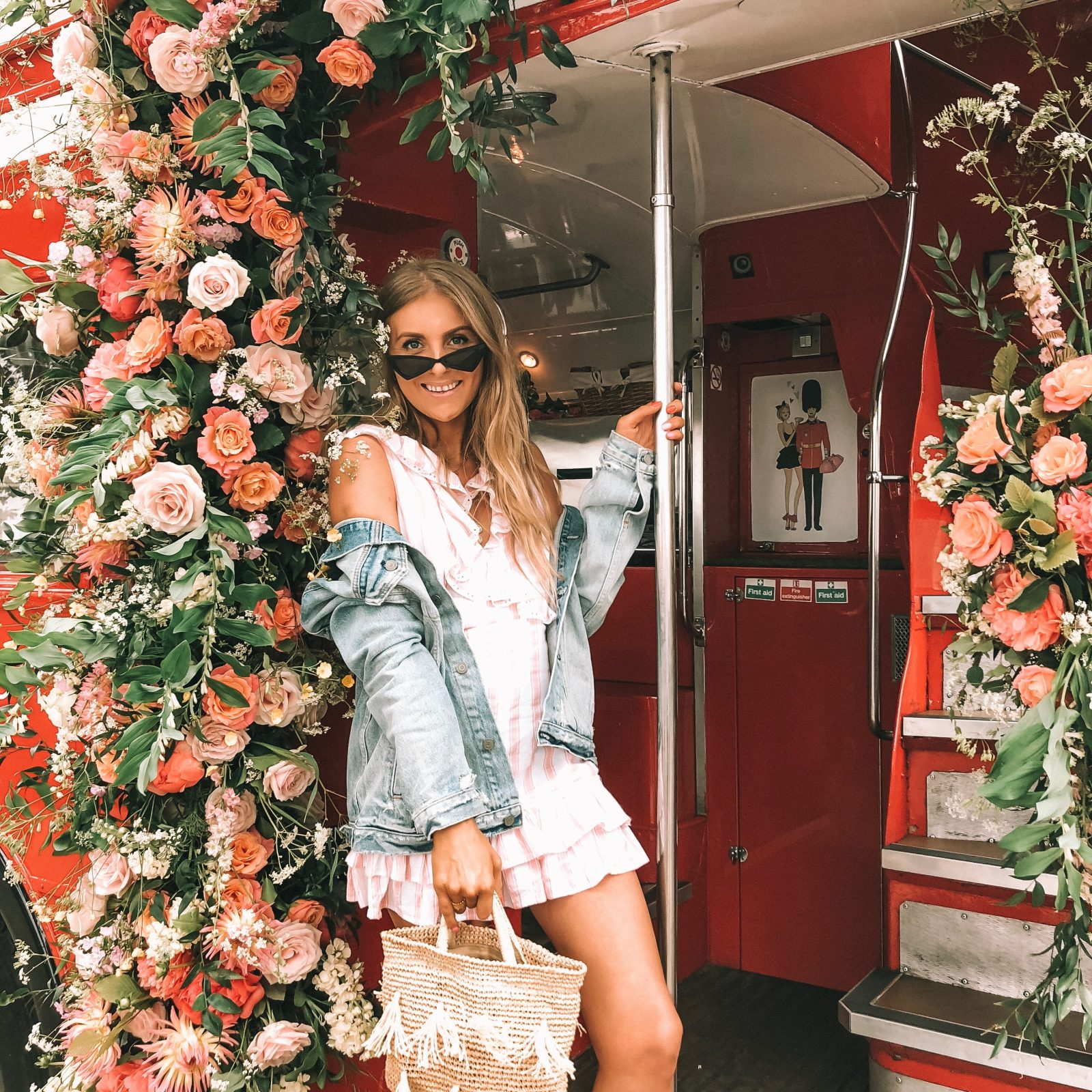 Revolve Takes London Floral London Bus