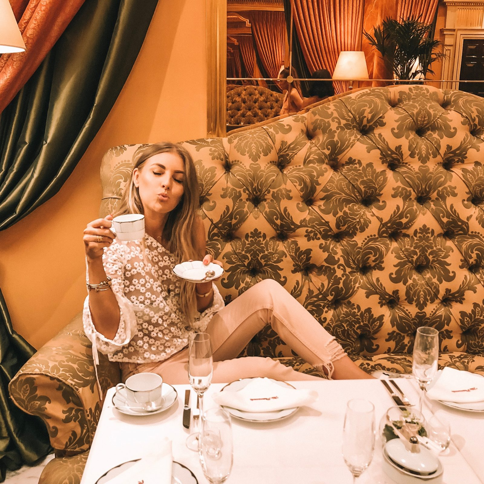 Revolve Takes London Majorelle Afternoon Tea