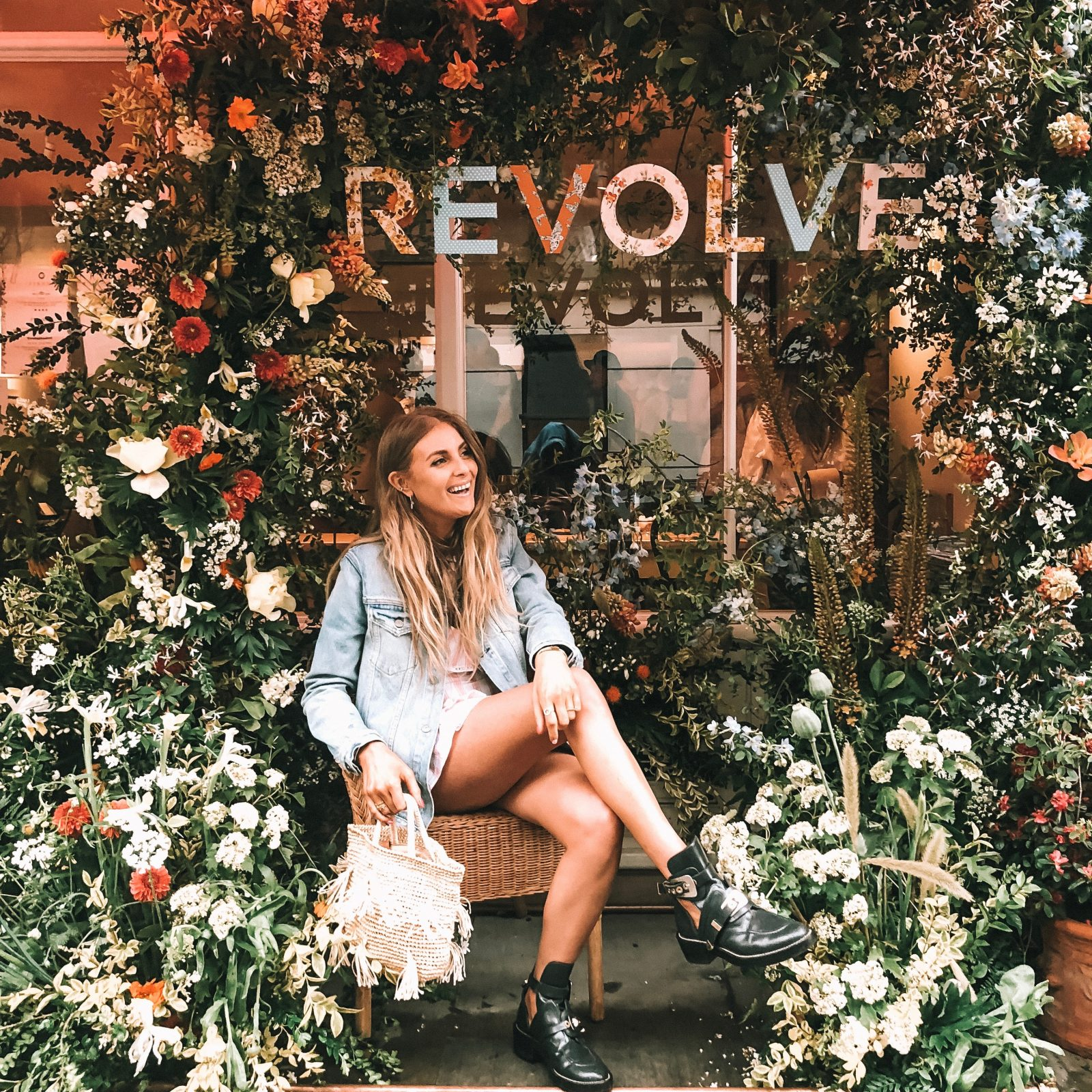 Revolve Takes London Revolve Floral Display