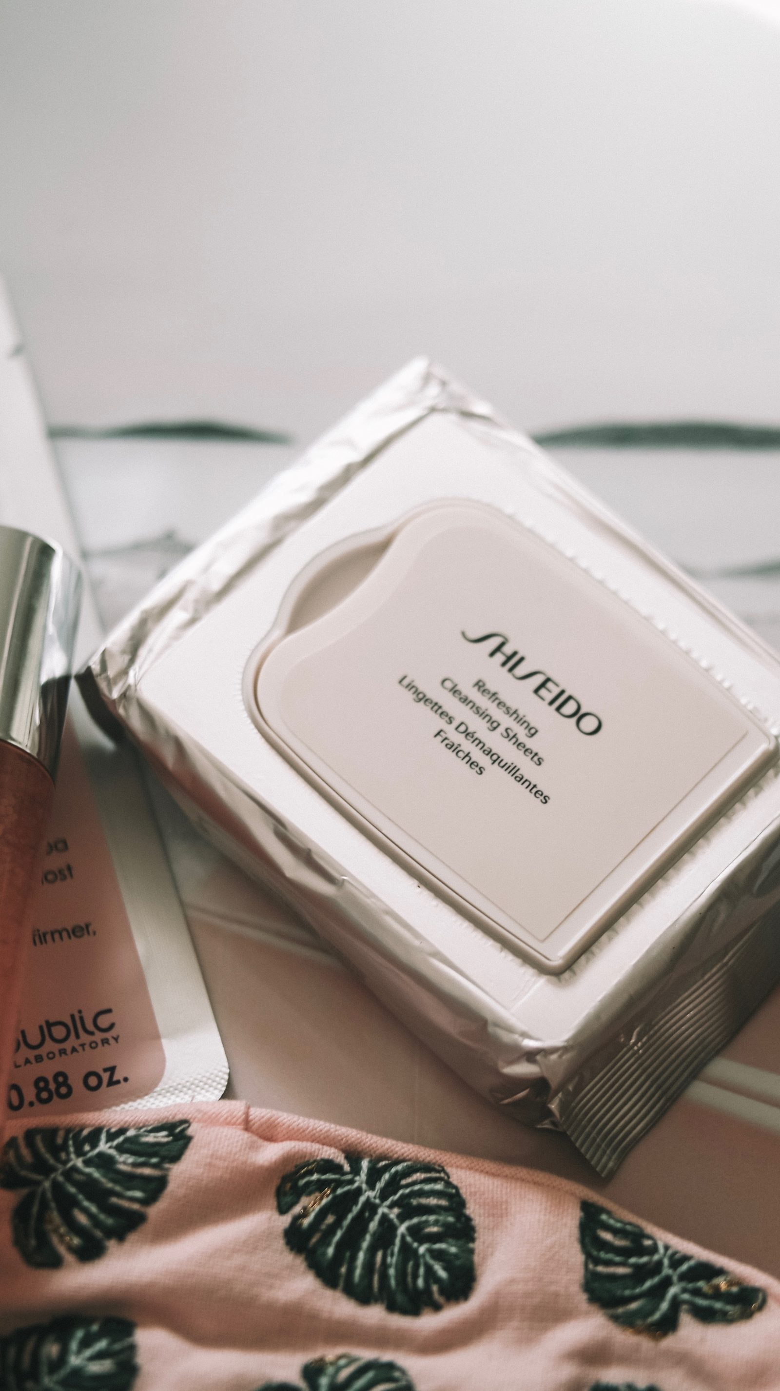 Inflight Beauty Shiseido Cleansing Wipes