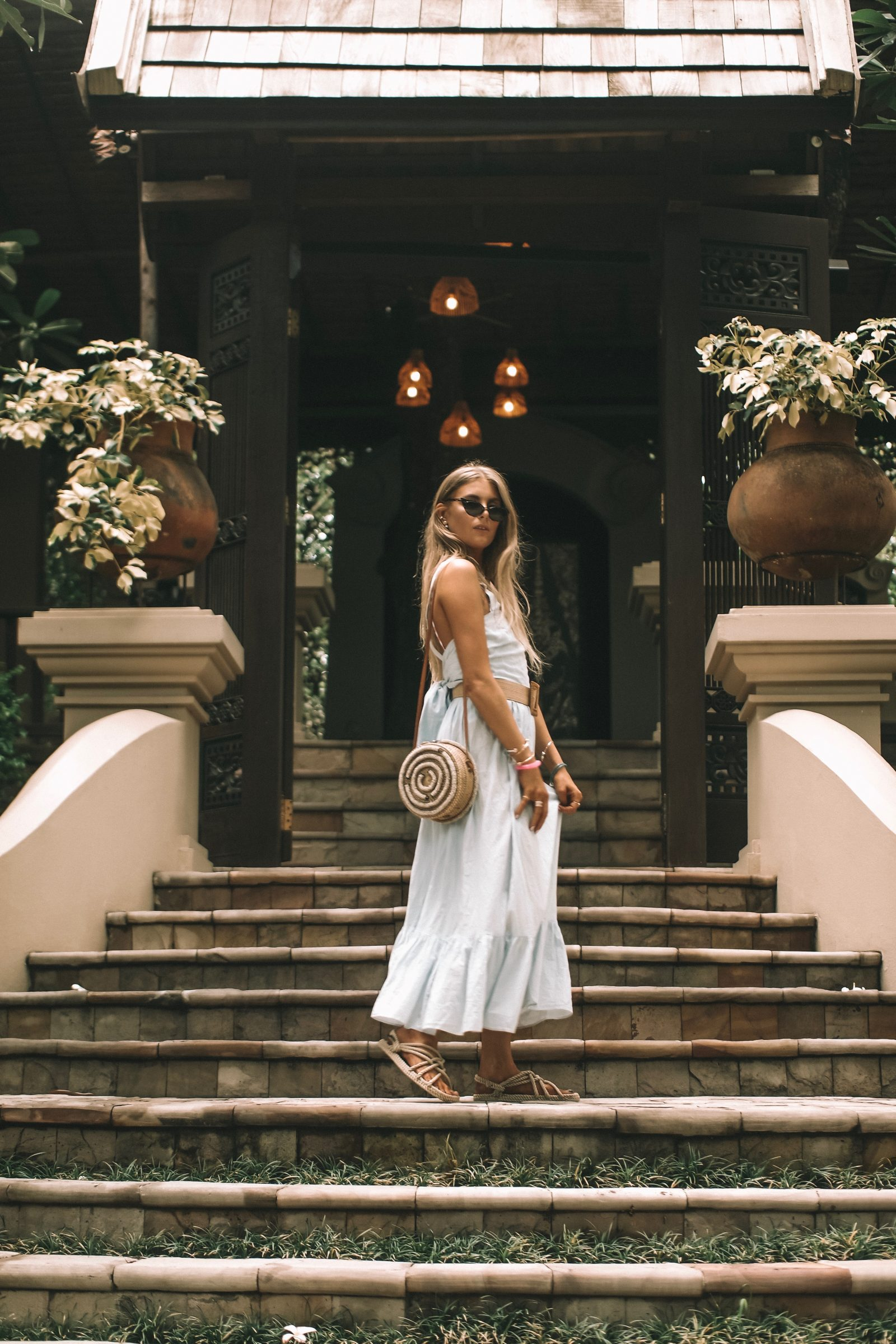 Thailand Outift Diaries - HM Blue Maxi Dress - Chiang Mai Outfit Diaries