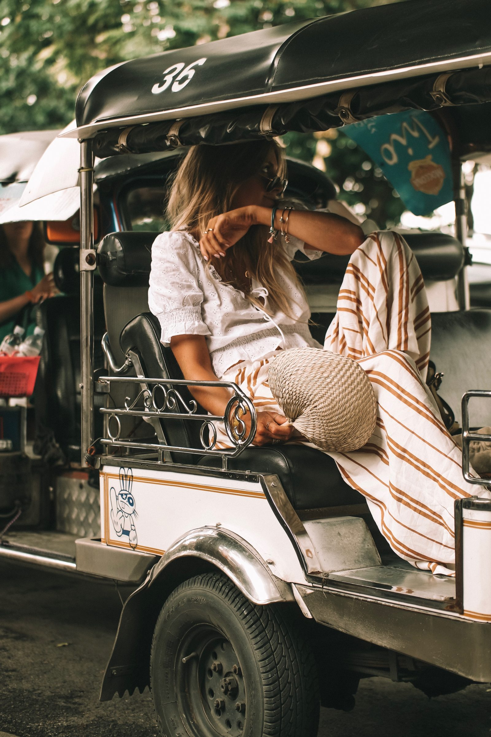 Thailand Outift Diaries - HM Stripe Trousers - Chiang Mai Outfit Diaries