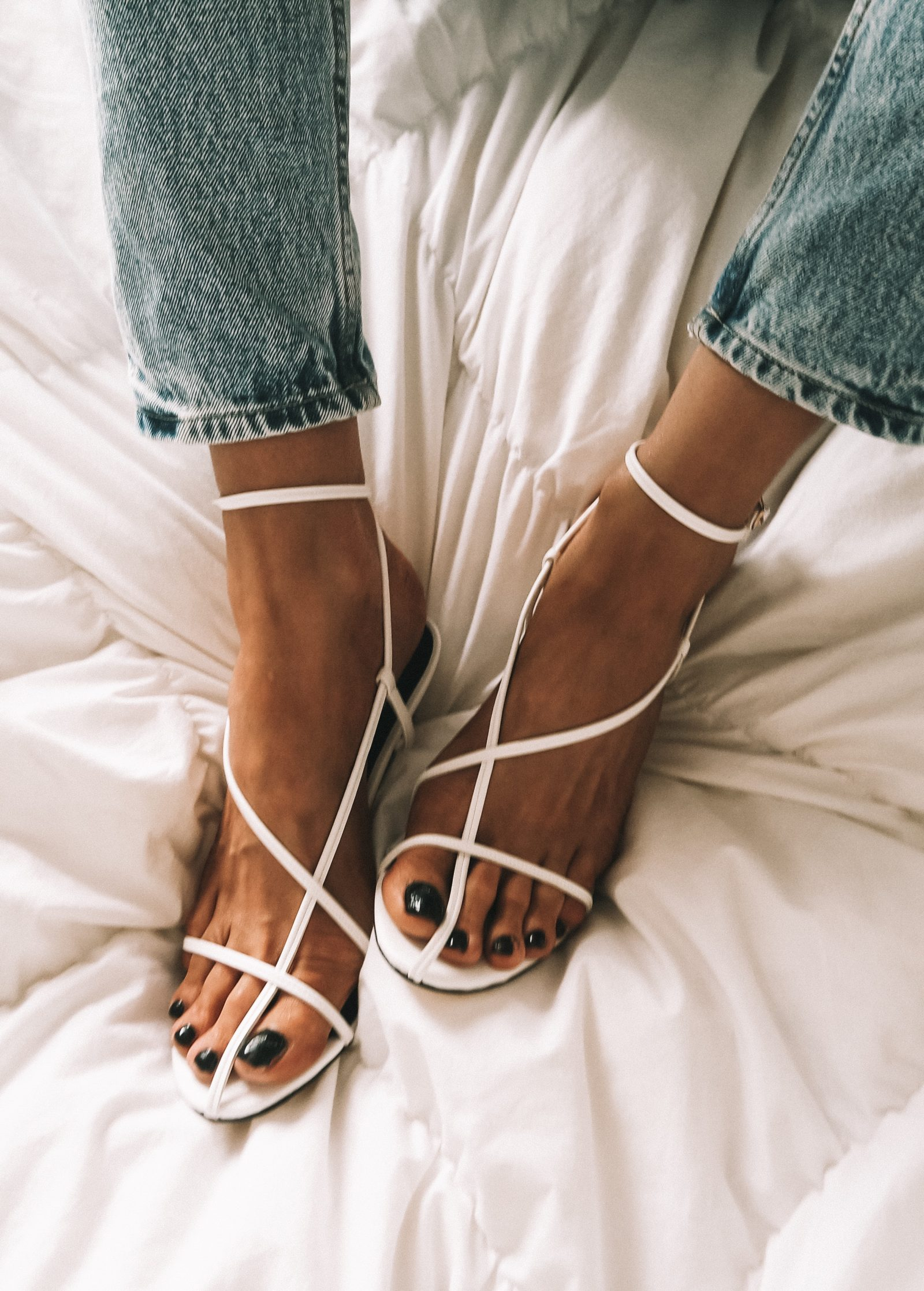 Revolve White Cage Shoes - Fashion Blogger Sinead Crowe