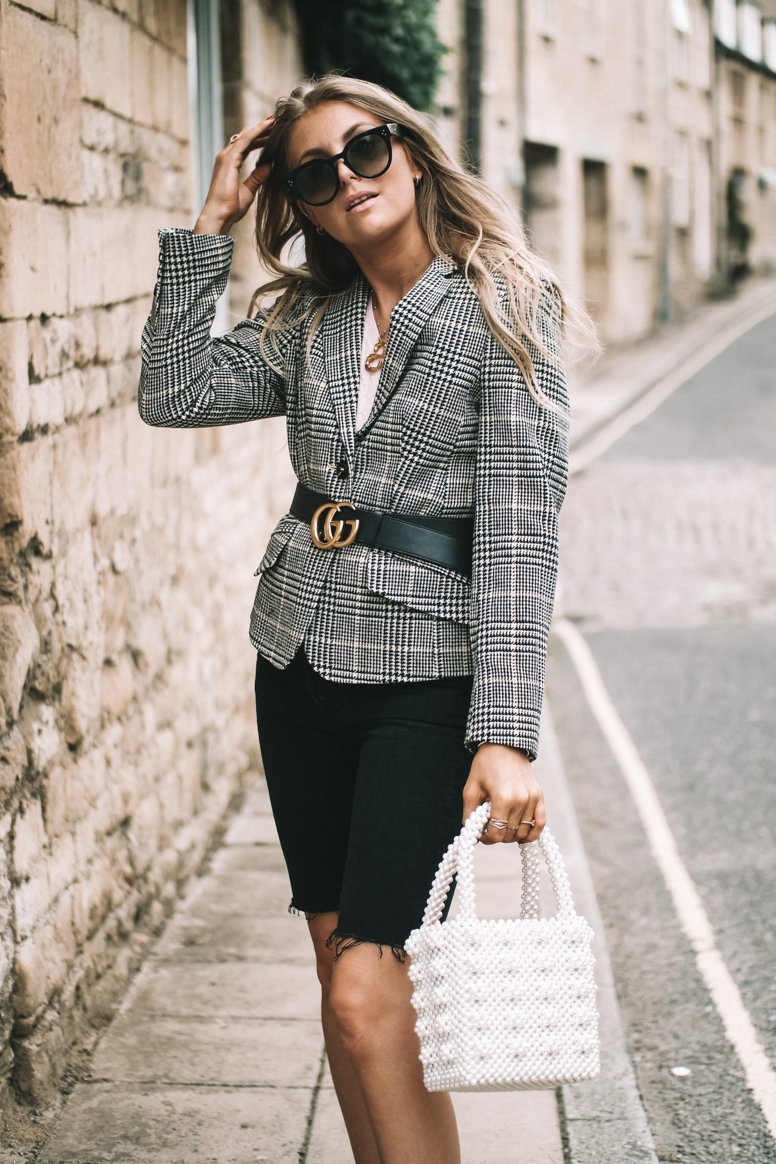LFW - Laura Ashley Houndstooth Blazer - Sinead Crowe