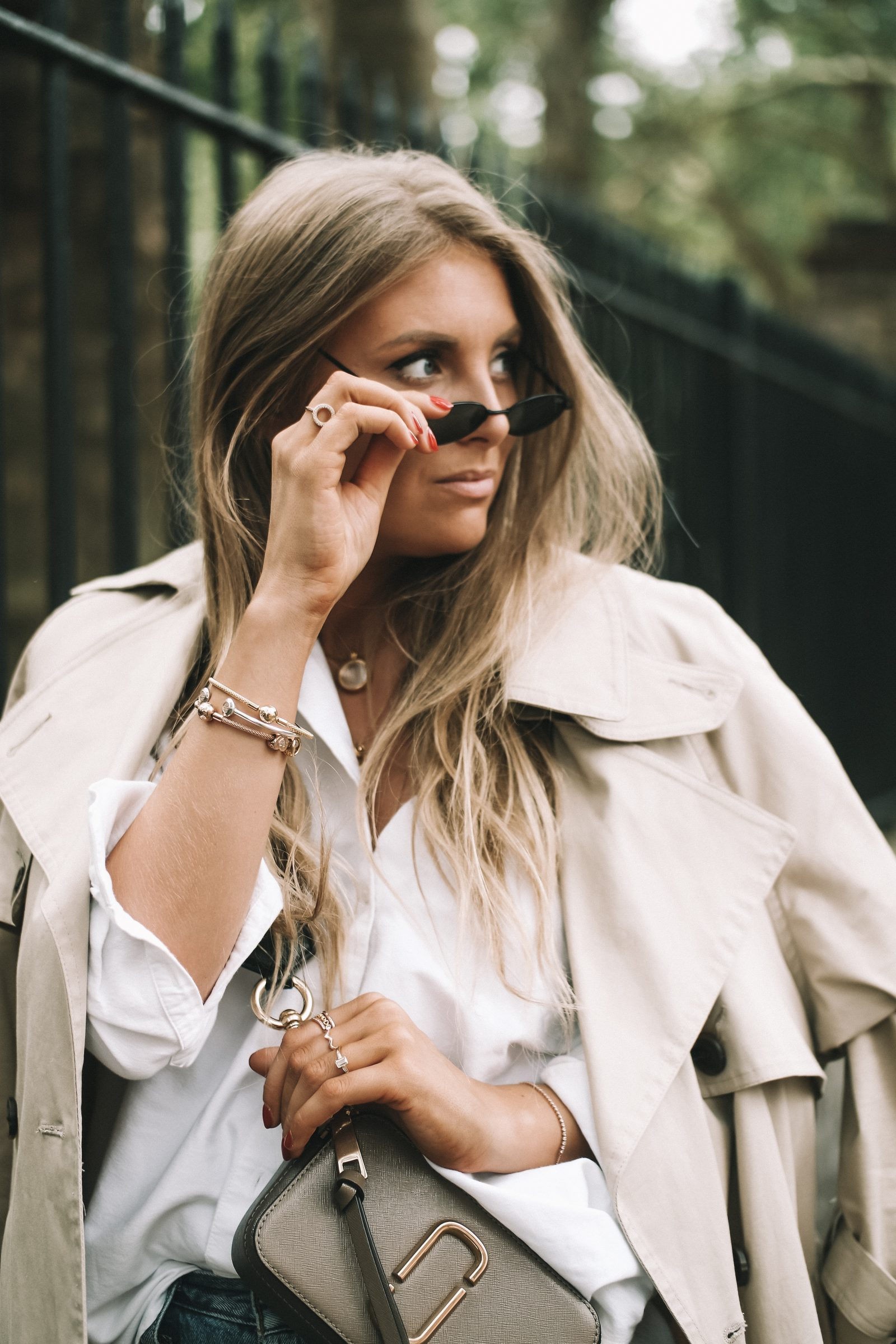LFW Street Style - Quay Micro Sunglasses