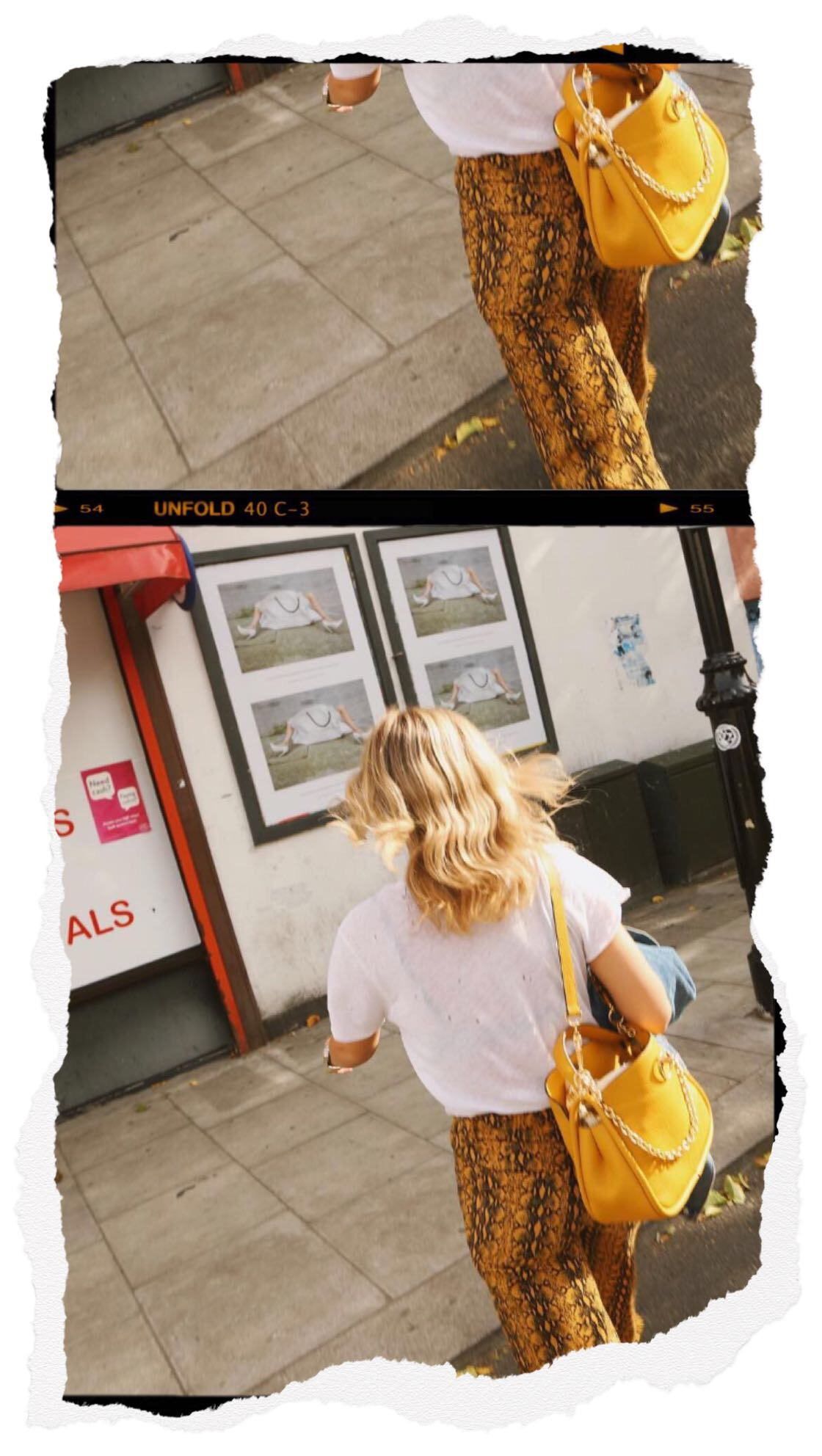 NFW Street Style - Lucy Williams Wearing Snake Print Trousers