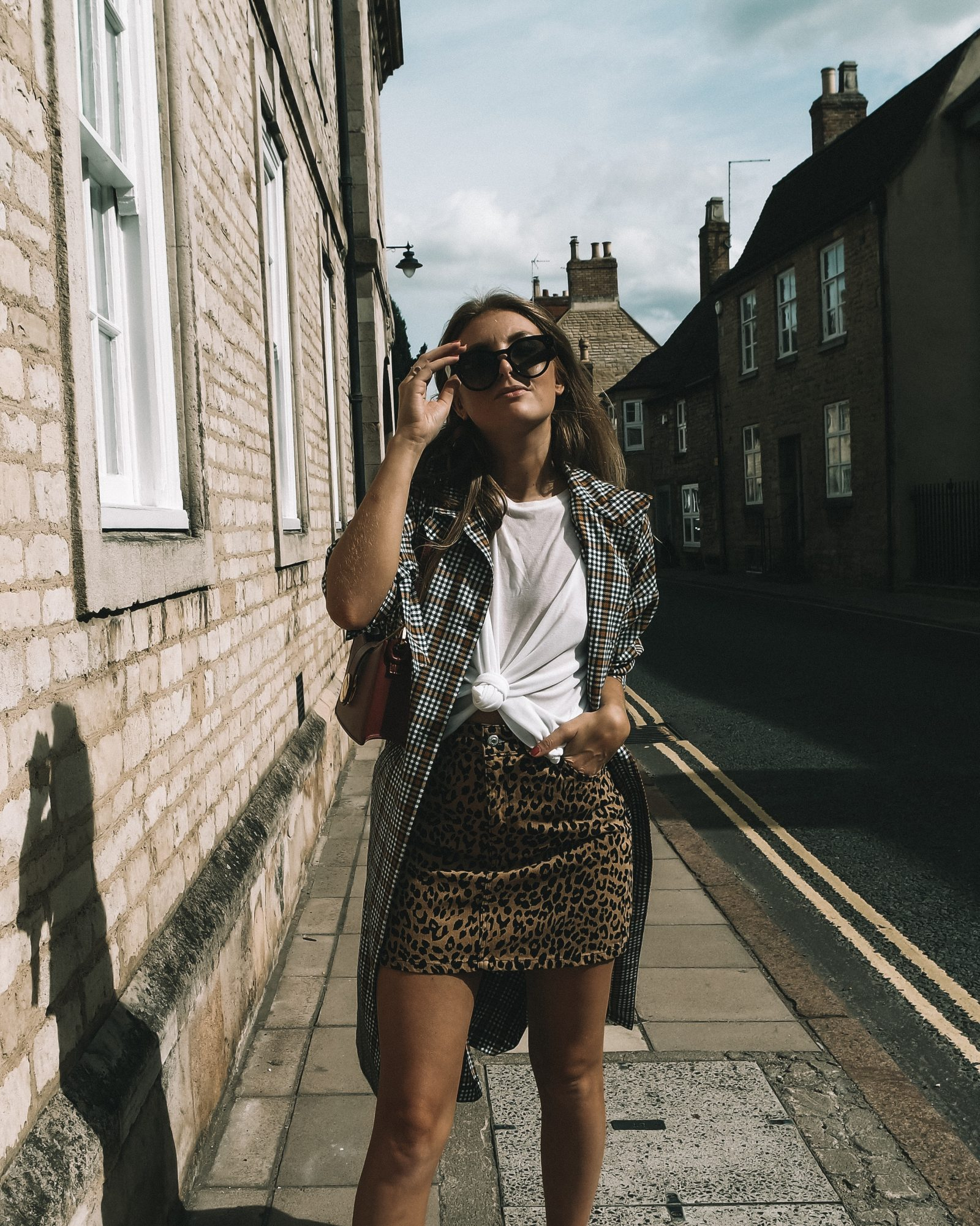 Topshop Printed Trench Coat Autumn Fashion - Sinead Crowe