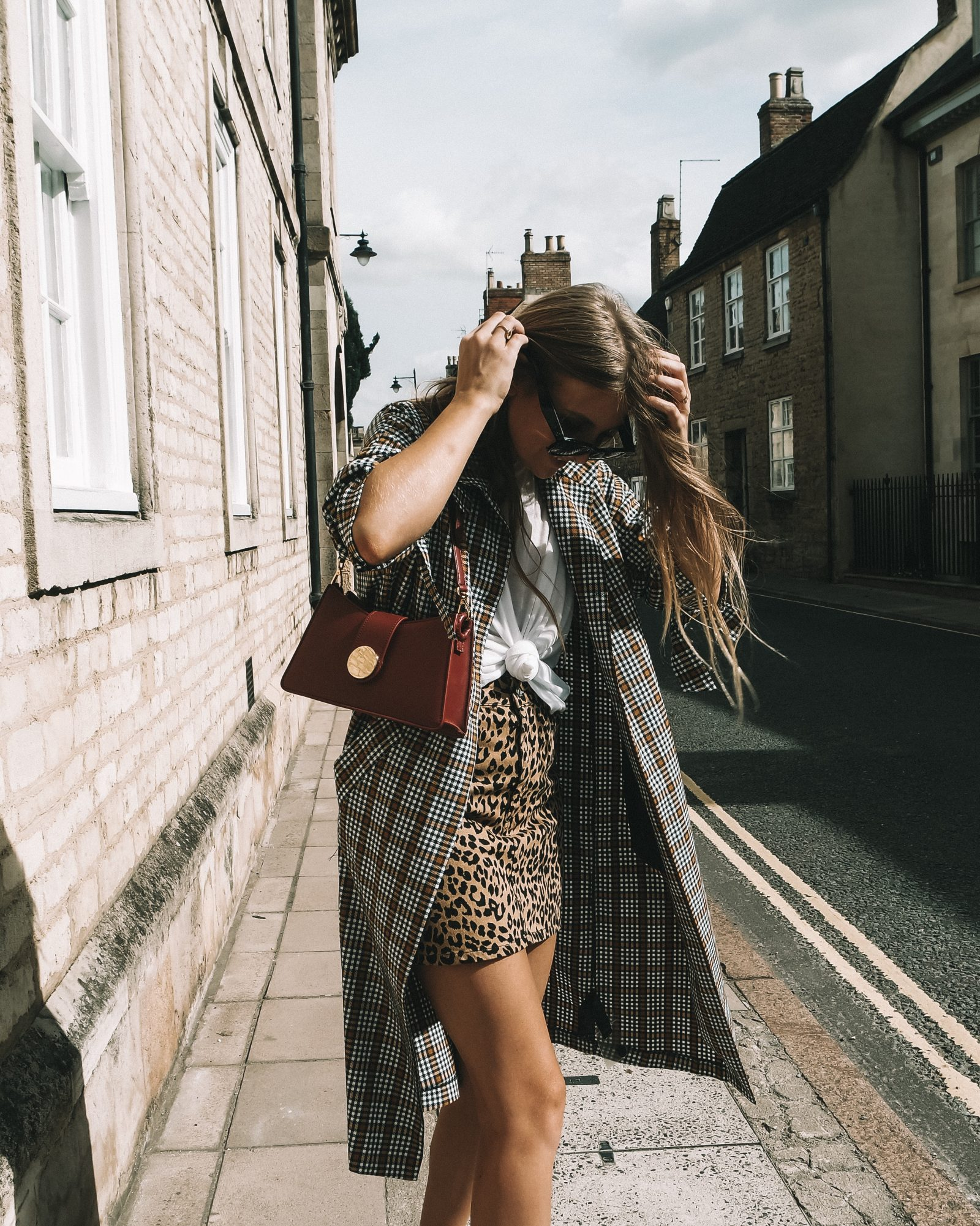 Topshop Printed Trench Coat Autumn Outfit - Sinead Crowe