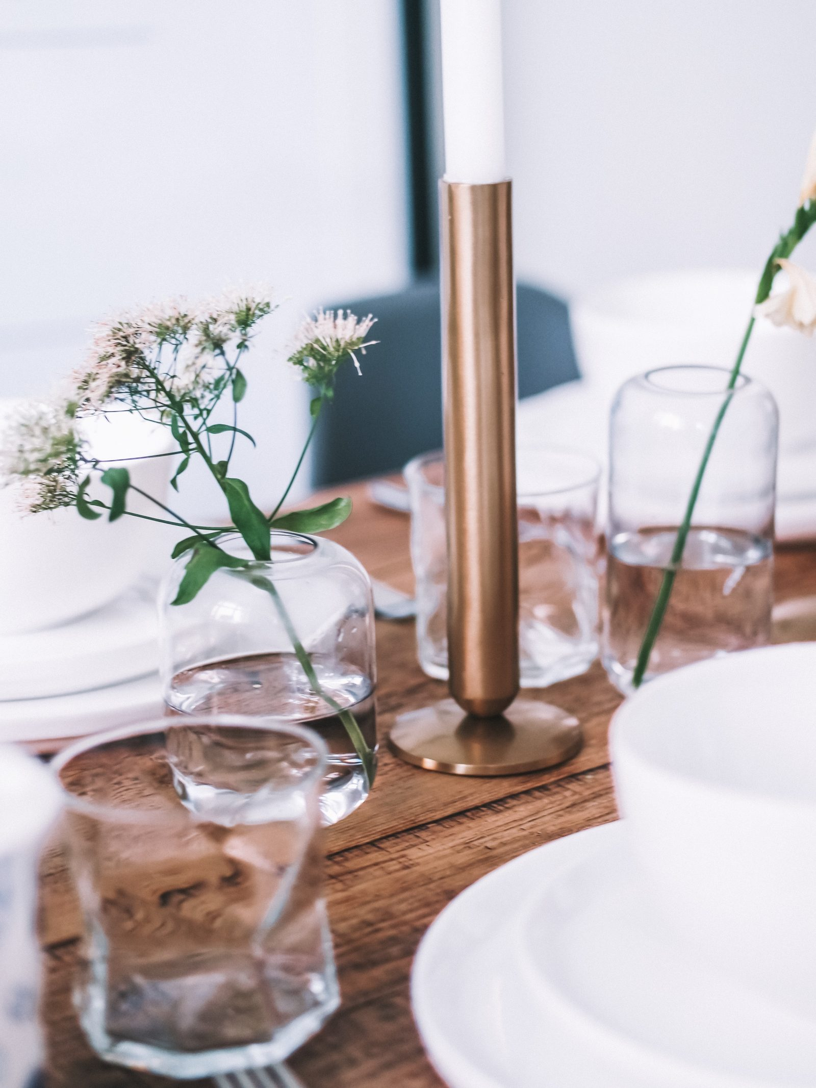 Dinner Party Ready - Gold Candle Holder