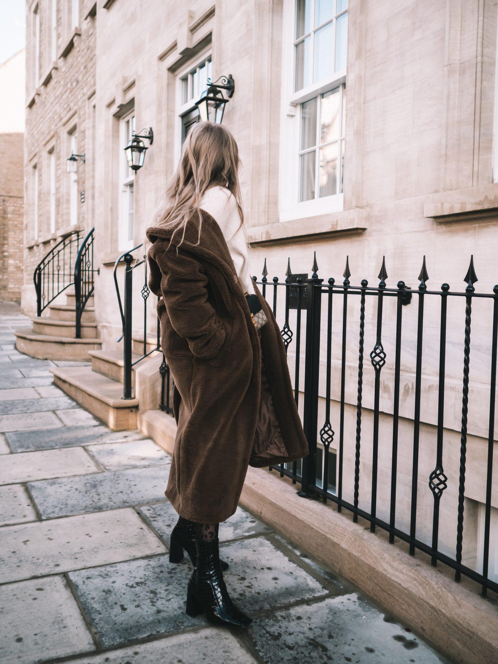 Warmest Coat - Brown Fur Coat - Sinead Crowe Autumn Street Style