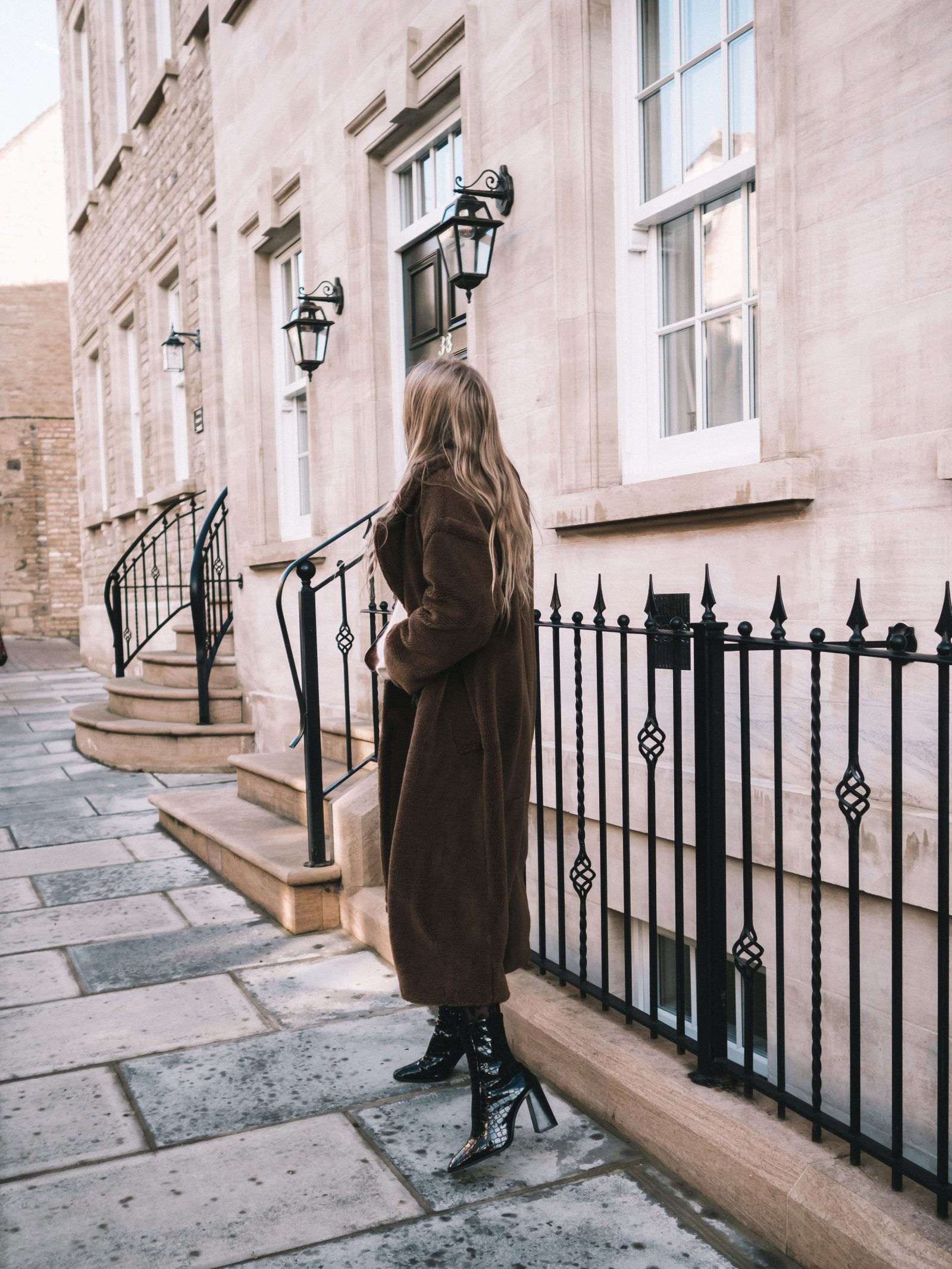 Warmest Coat - Faux Fur Maxi Coat - Sinead Crowe Autumn Street Style