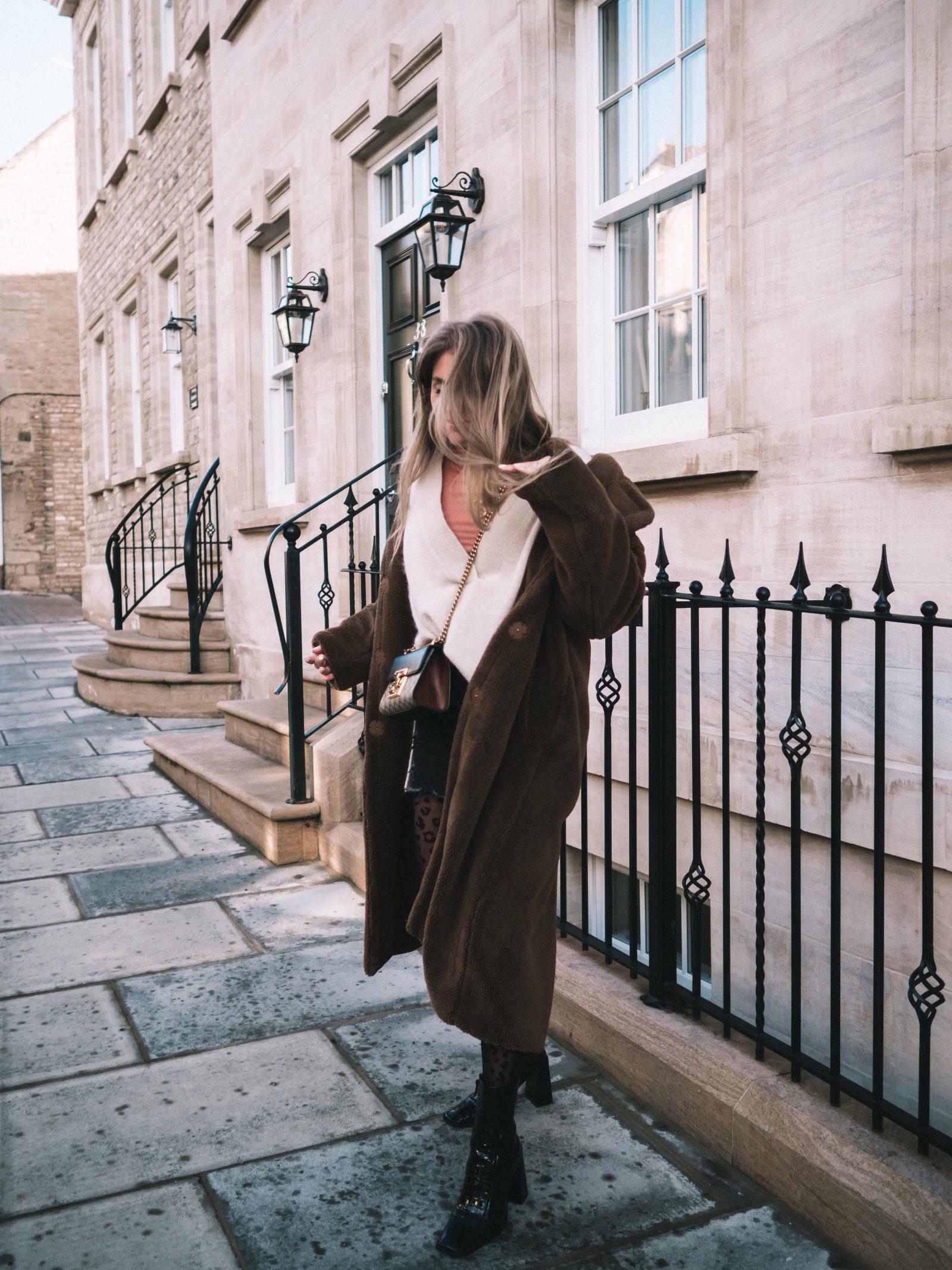 Warmest Coat - Fur Maxi Coat - Sinead Crowe Autumn Street Style