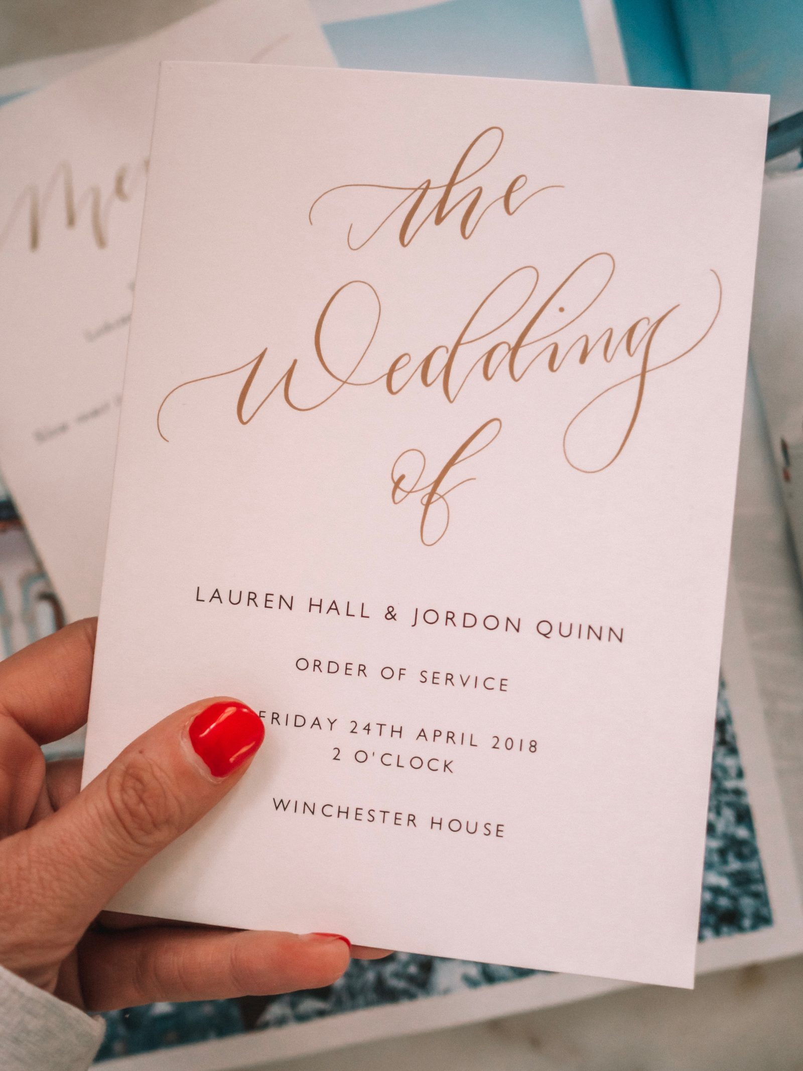Papier Wedding Stationary - Order Of Service