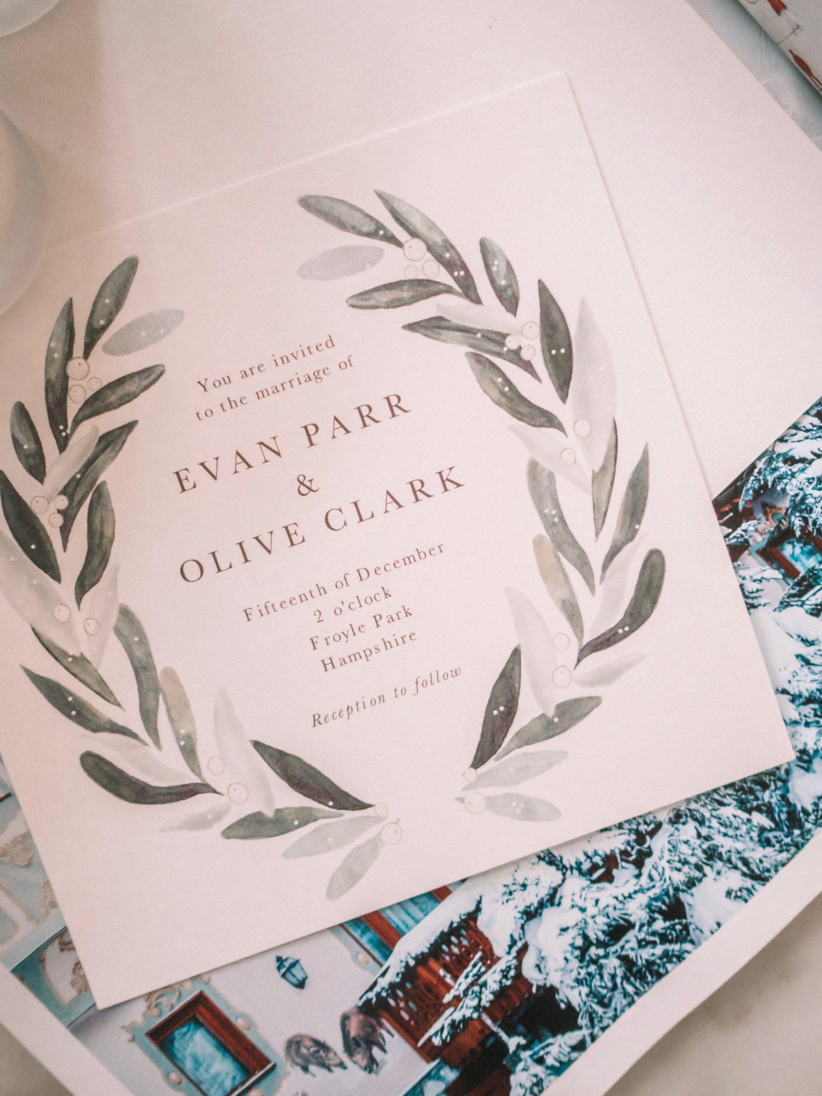Papier Wedding Stationary - Wedding Invite