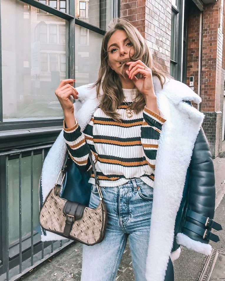 Topshop Jeans - Acne Shearling Jacket