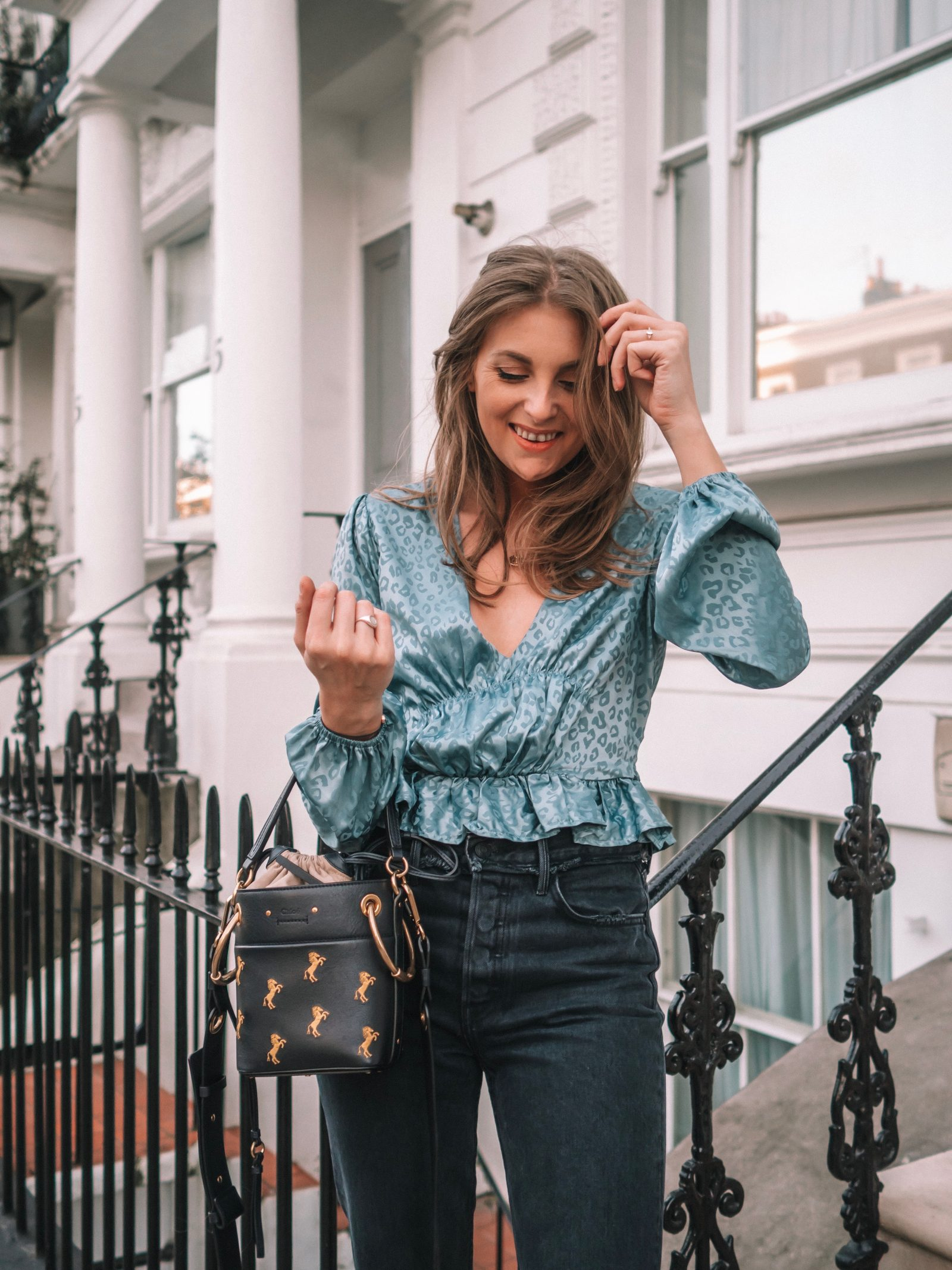 House of Harlow Blue Top