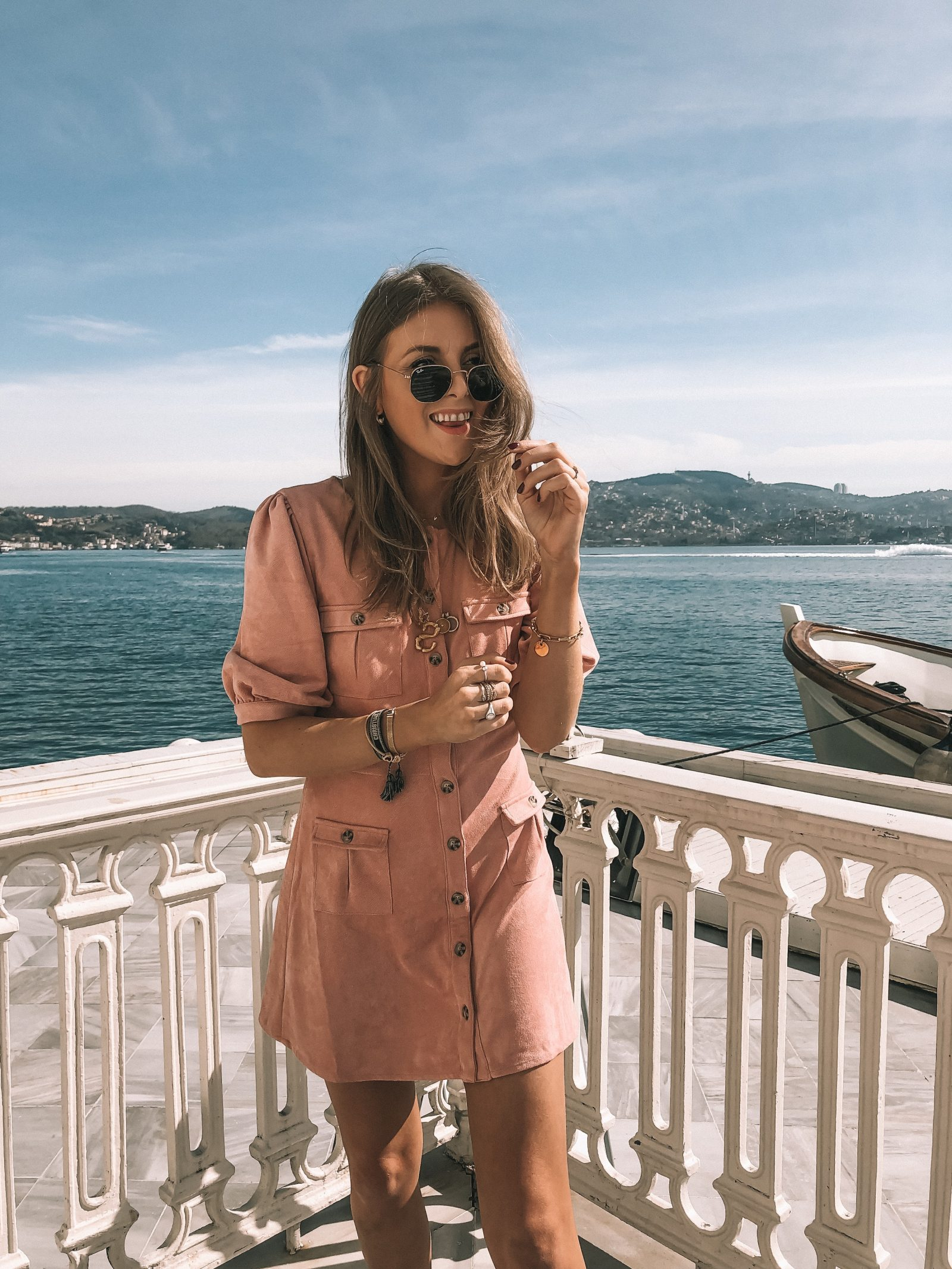 Little Pink Dress - Majorelle Pink Suede Dress