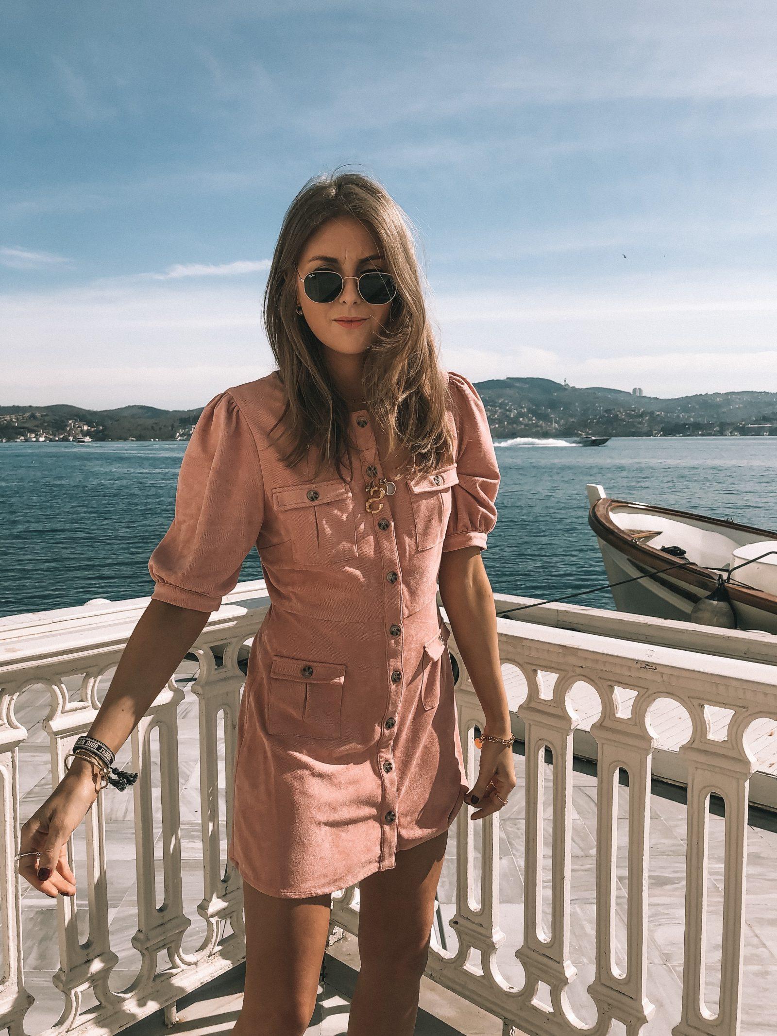 Little Pink Dress - Majorelle - Suede Dress