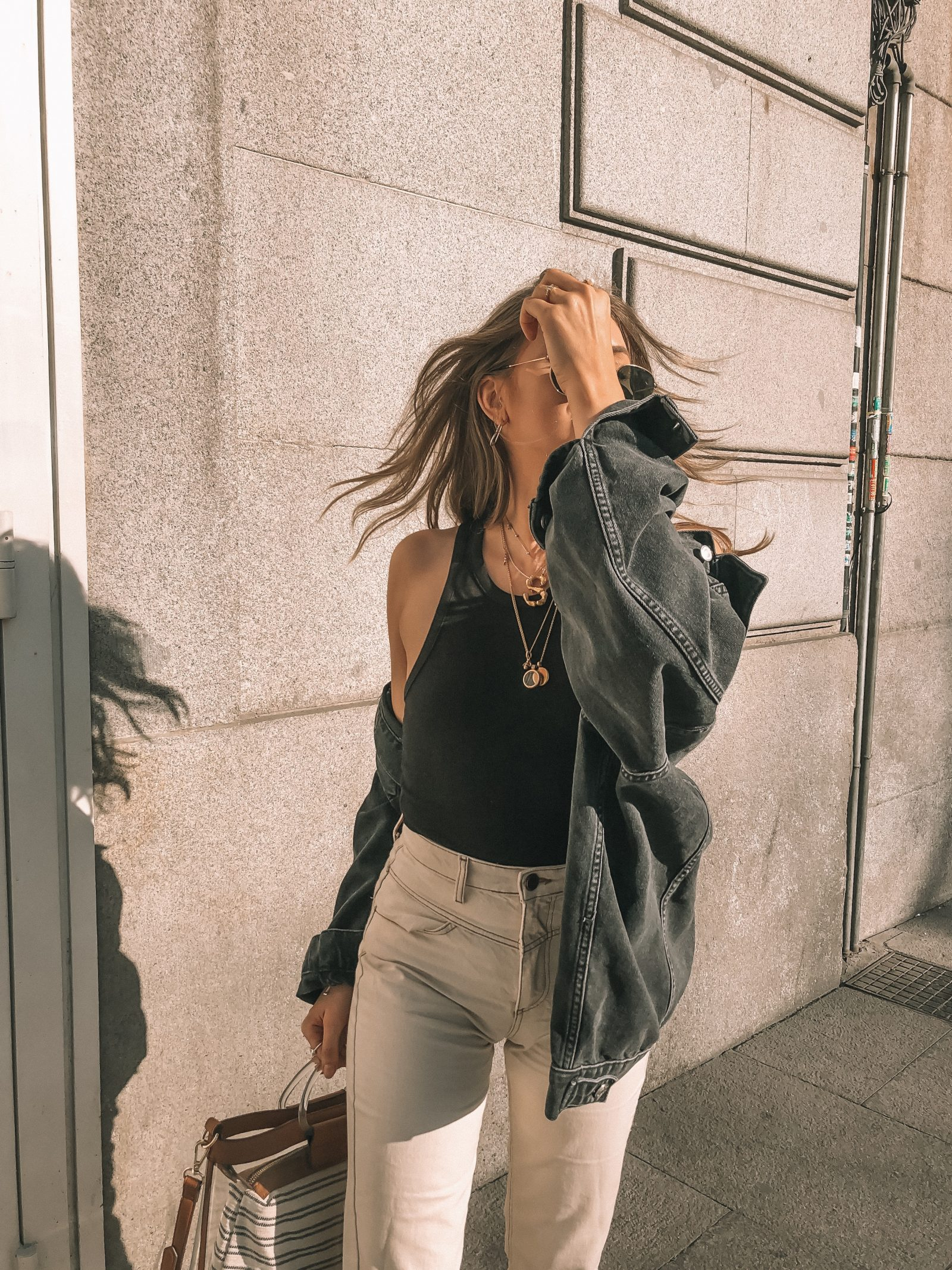 Madrid Outfit Diaries - Off White Stradivarius Jeans