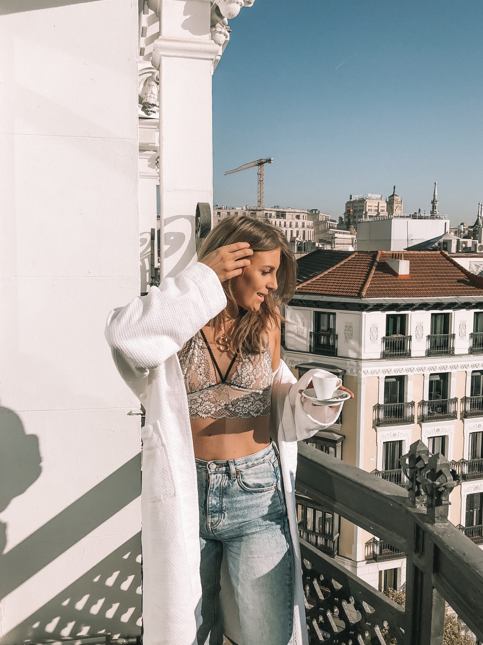 Madrid Travel Anxiety - Elcy Clothing Lace Bralet