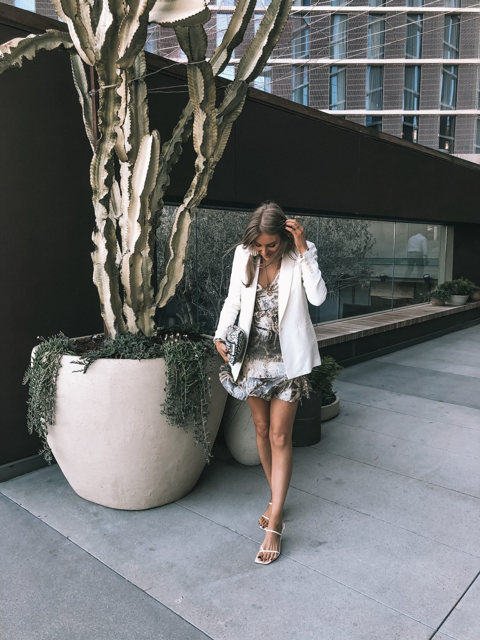 H&M Conscious Collection Spring Outfit in LA - smart Casual
