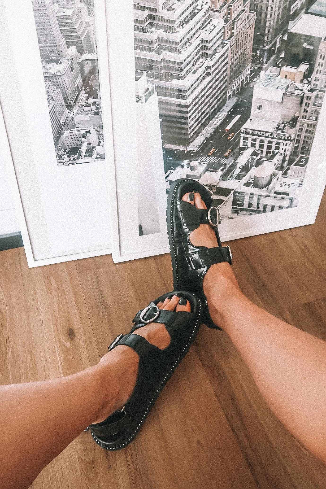 Zara Mock Croc Sporty Sandals - Ugly Grandad Sandals - SS19 Trend