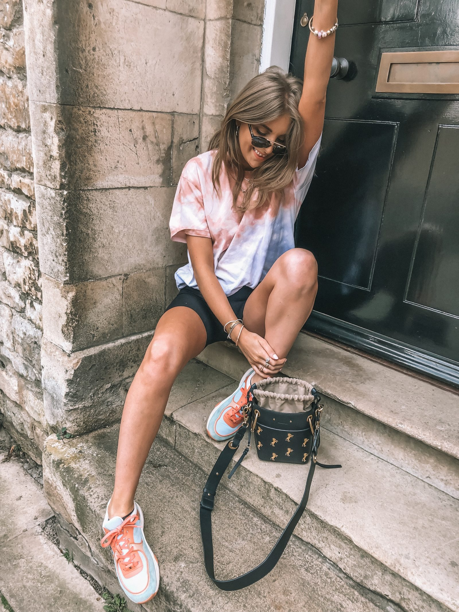 Spring street style outfit ideas for the tye dye spring trend