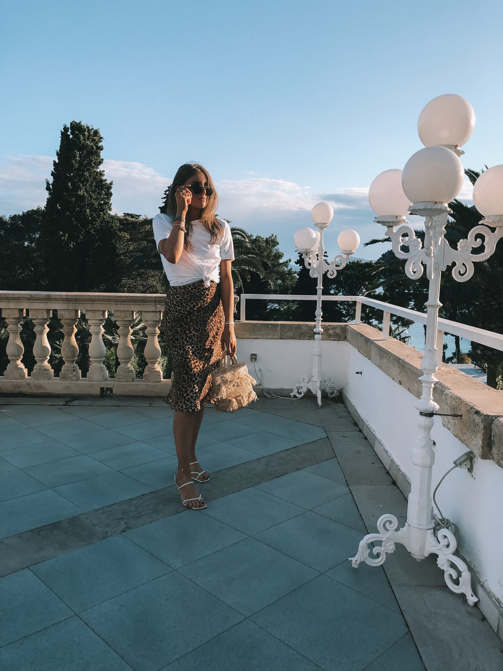 Nanushka Midi Skirt - Holiday Outfit Idea in Mallorca - Royal Hideaway Hotel Formentor