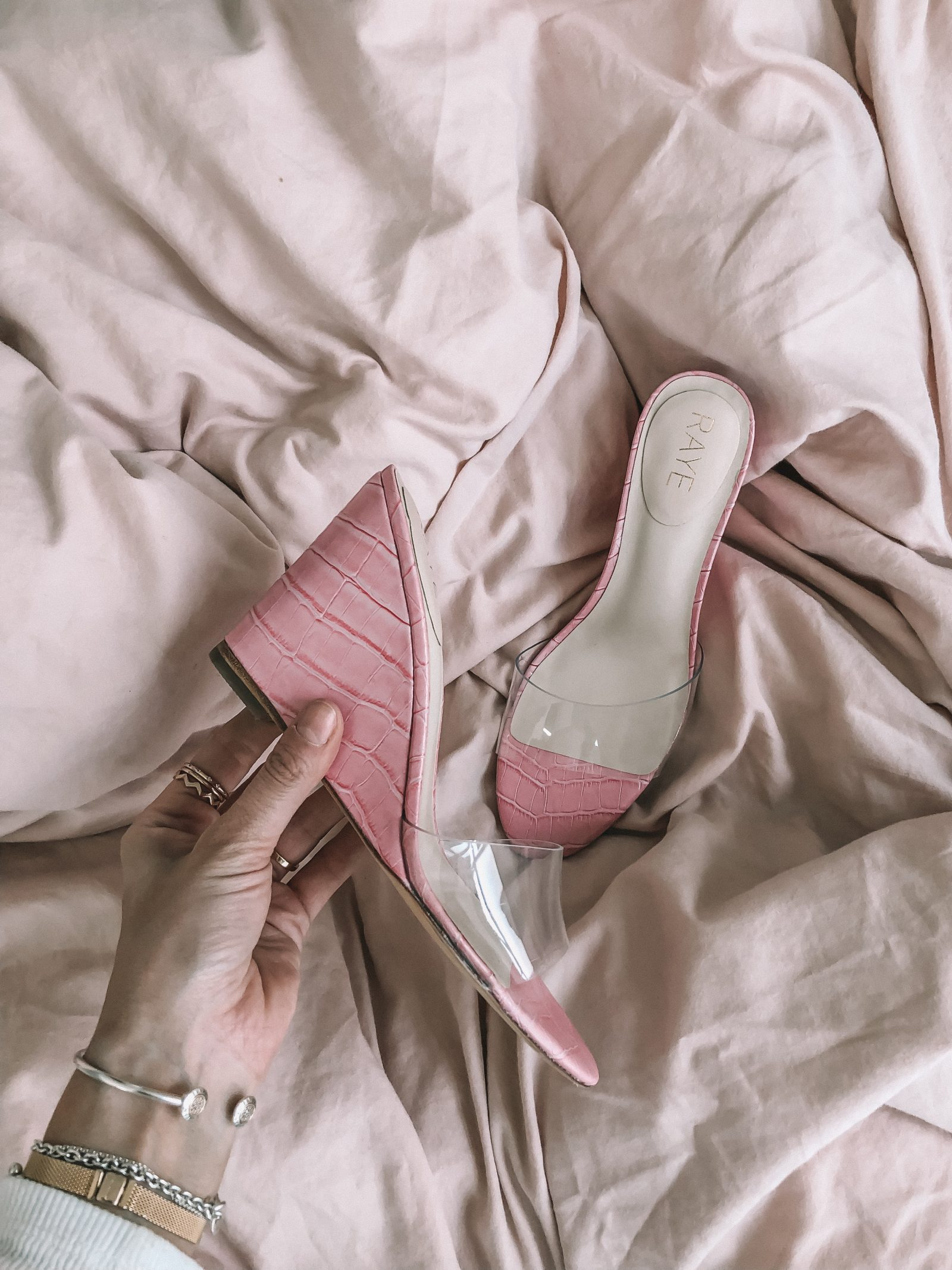 RAYE PVC Shoes - Pink Wedges