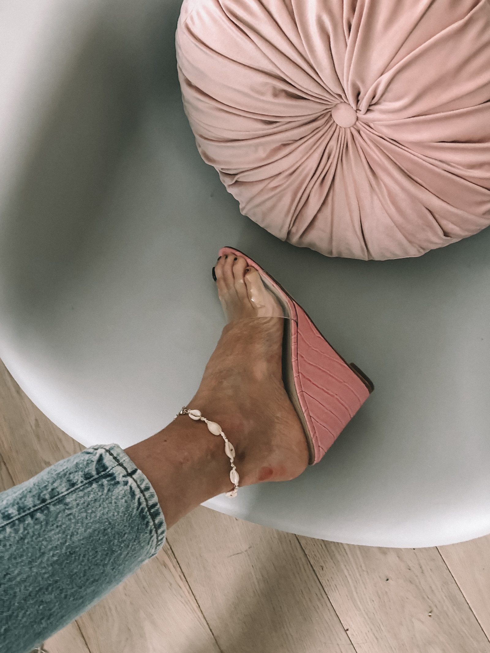 REVOLVE PVC Shoes - Pink Wedges