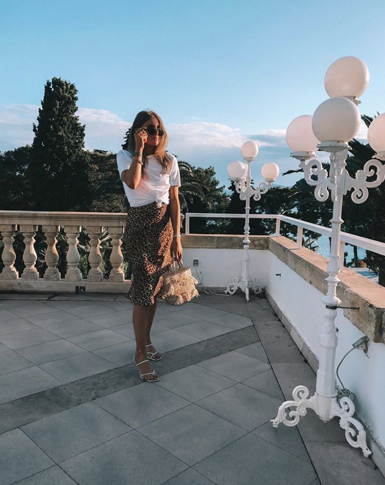 Summer Trends 2019 - Leopard Print Midi Skirt