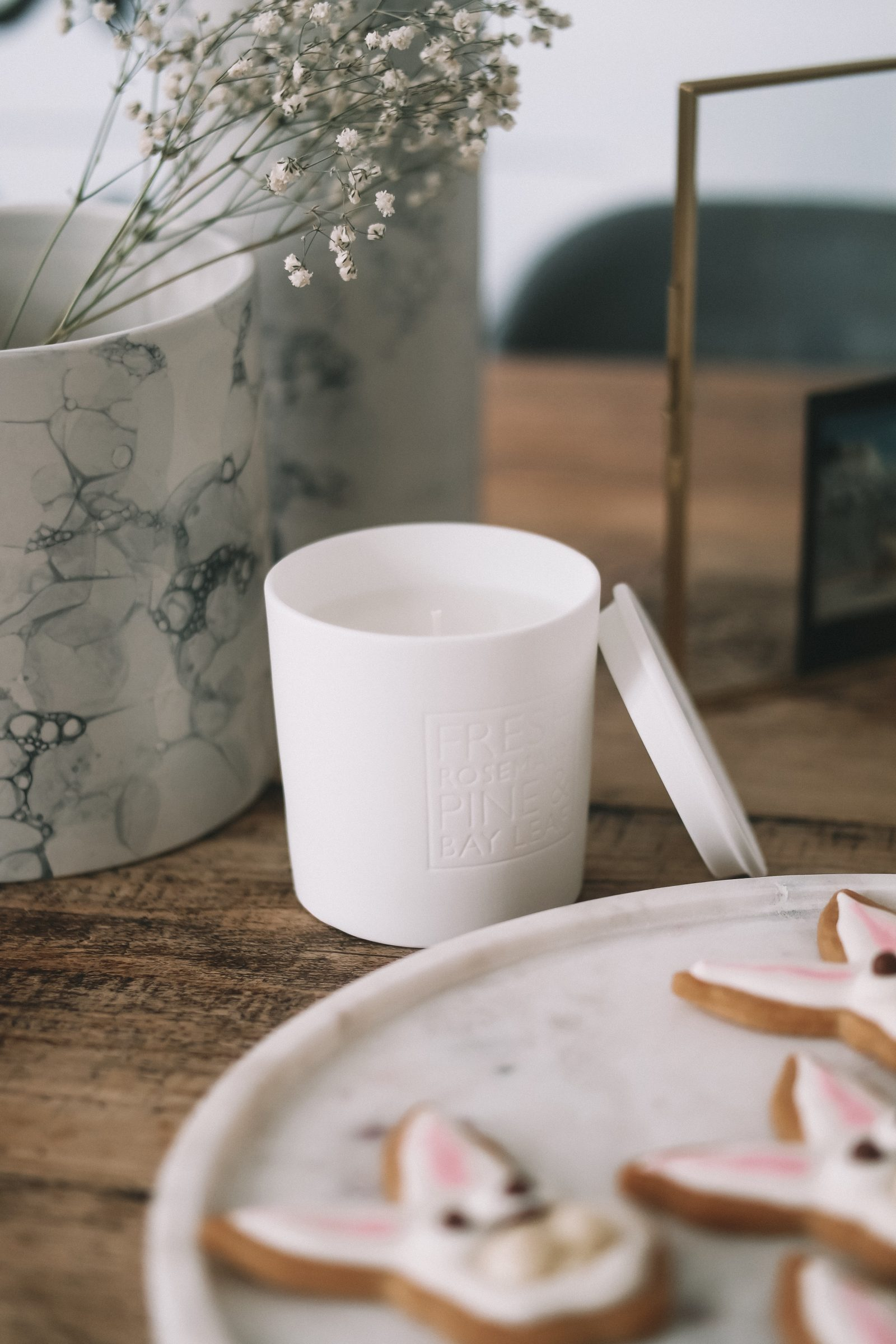 Spring Interiors - Rosemary Candle from The White Company
