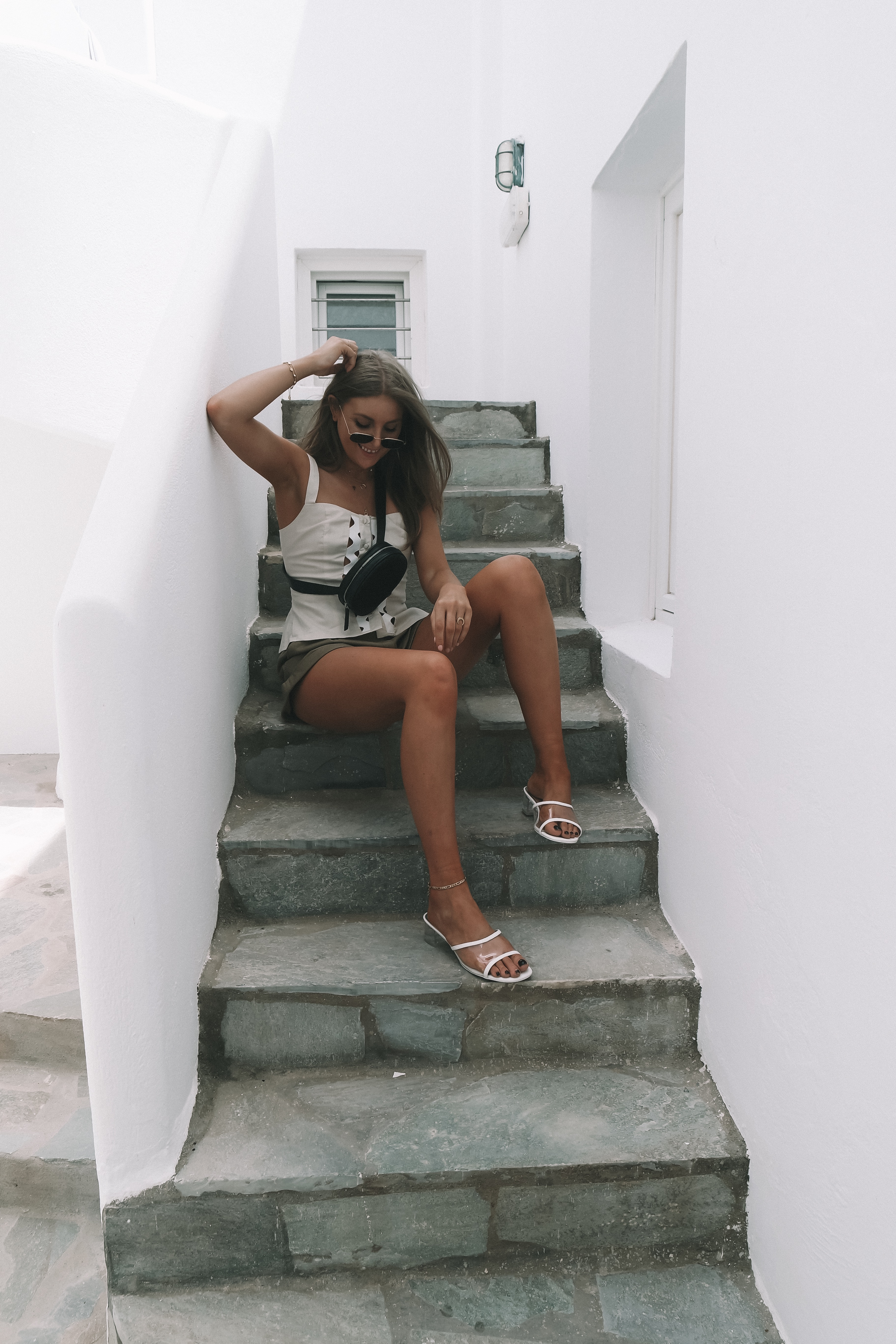 Chanel Dupes Clear Mules - Chanel PVC Mules - Summer Street Style - Mykonos