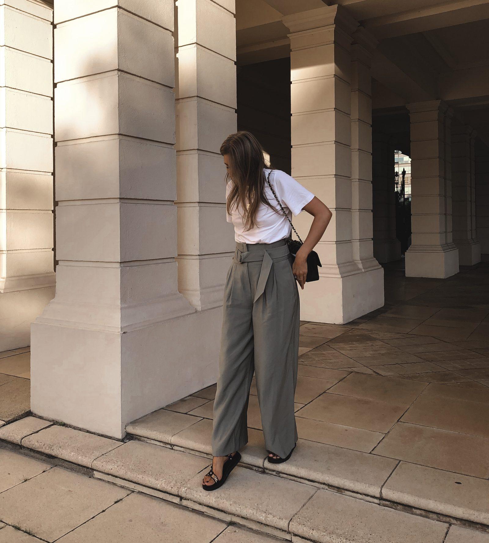 Autumn Topshop Haul - Topshop Khaki Wide Leg Trousers
