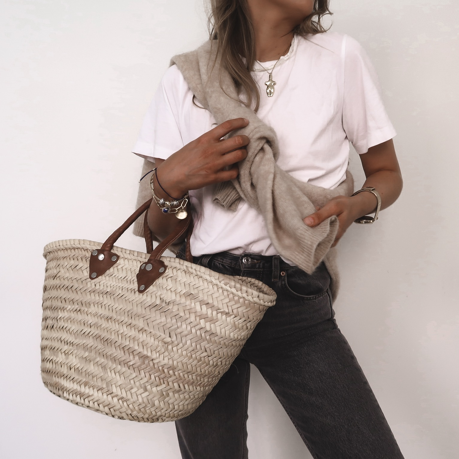 Summer Clothes For Autumn - Autumn Outfit ideas - Large Basket Bag