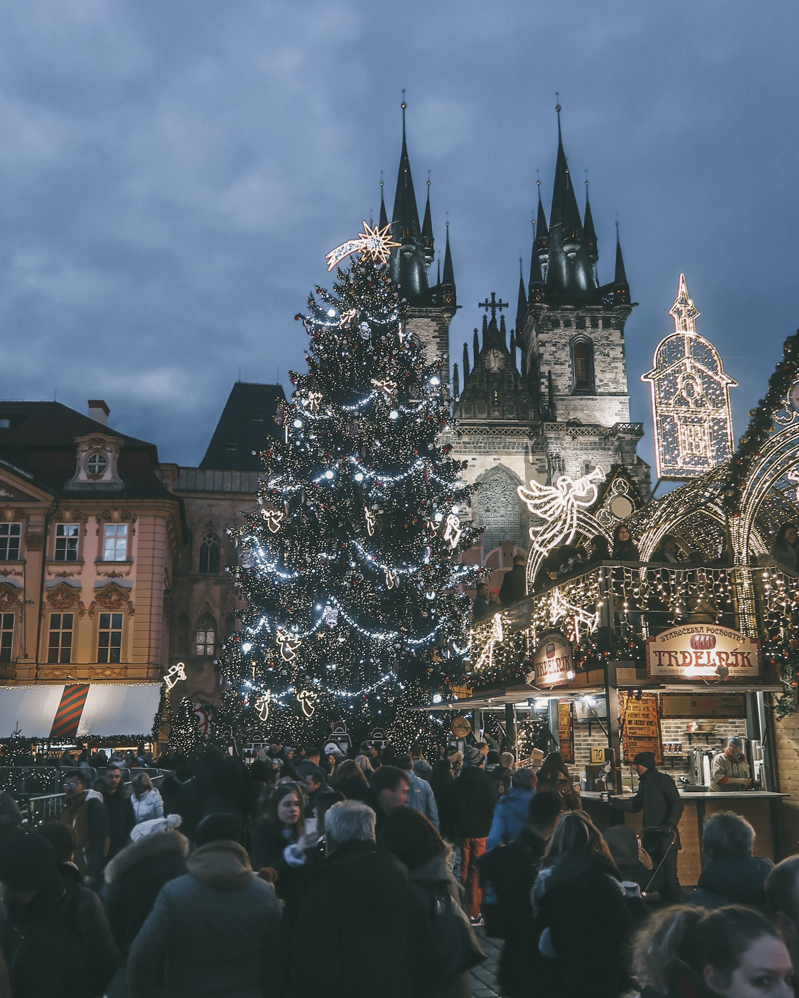 Prague Christmas Market at Night