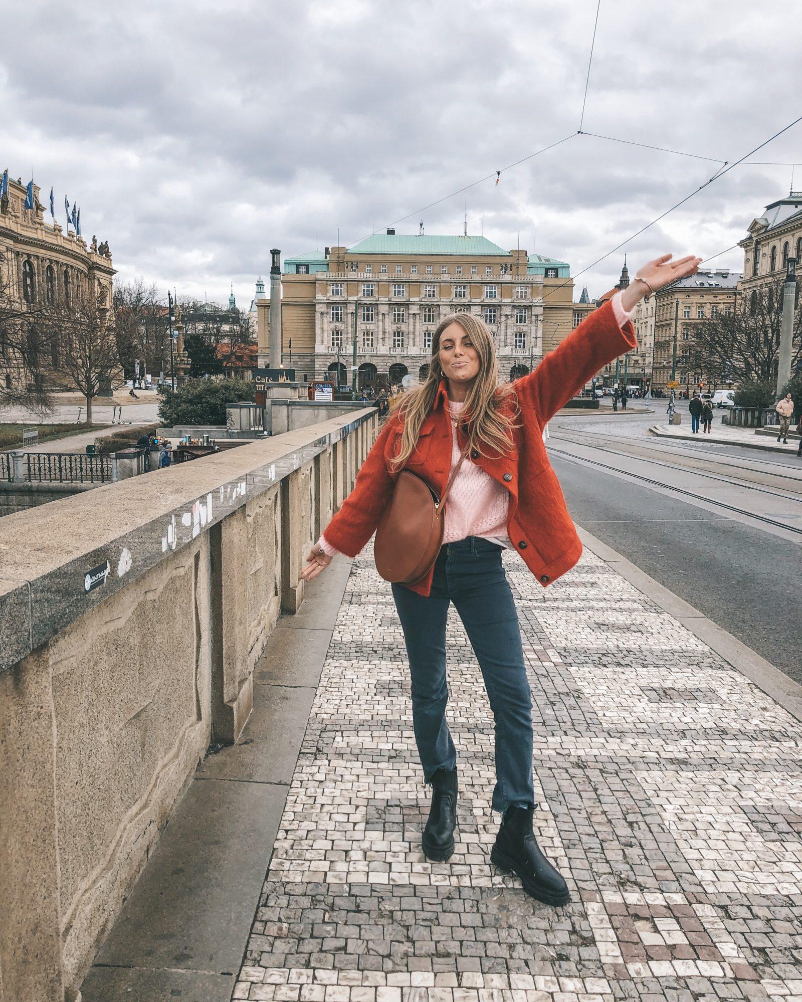 Prague - Sezane Red Coat