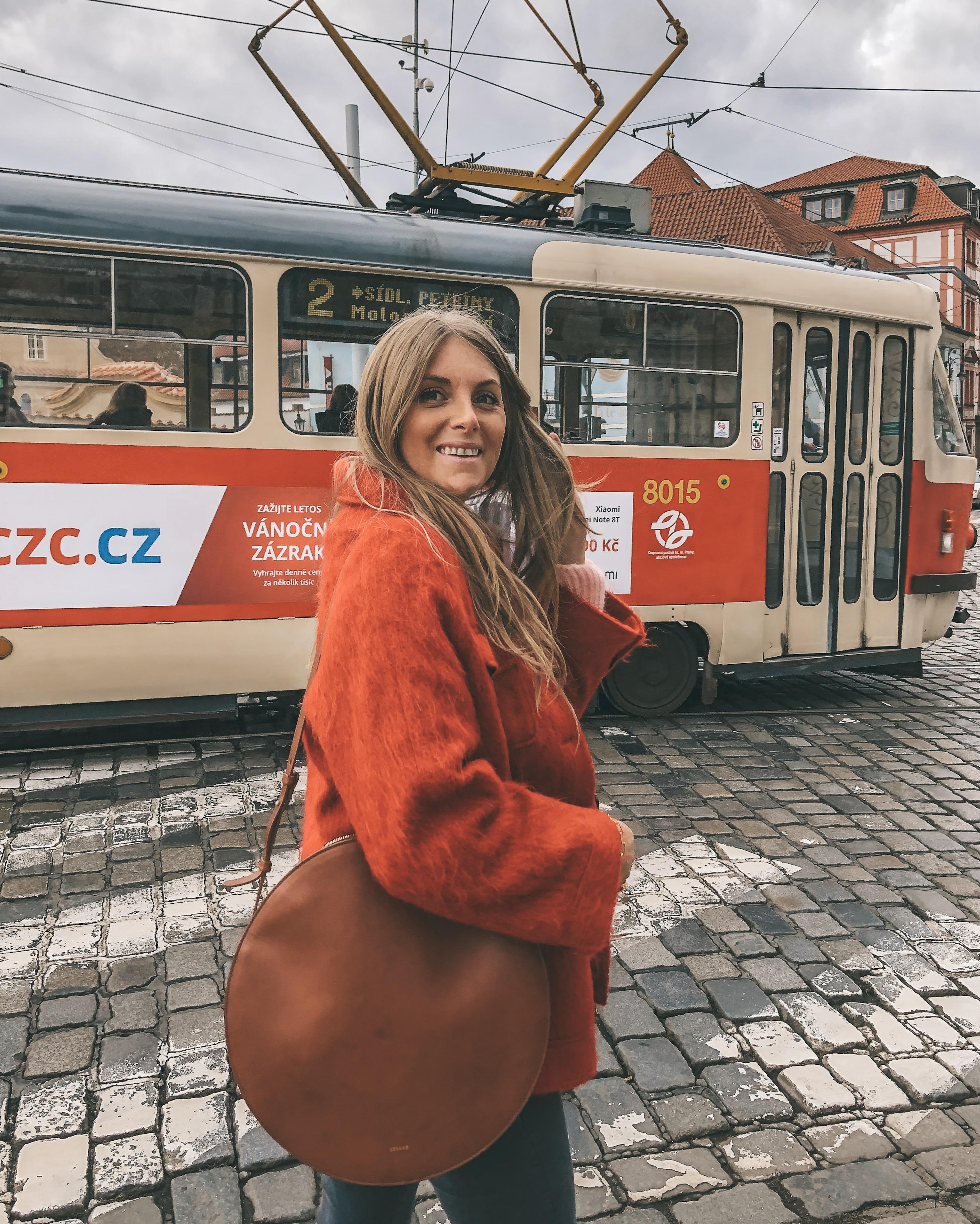 Prague - Sezane Red Jacket