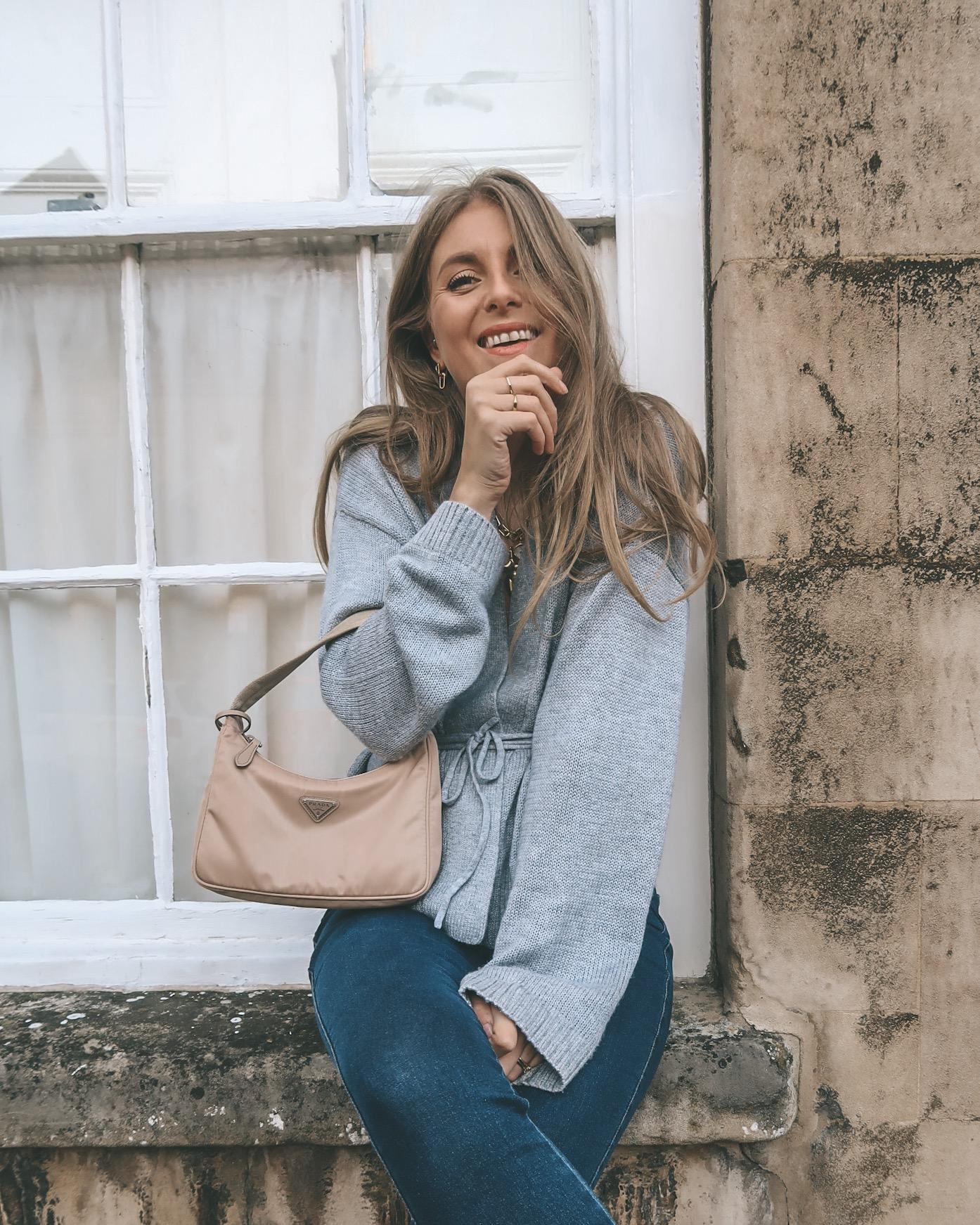 Grey Wrap Cardigan - Winter Outfit Ideas