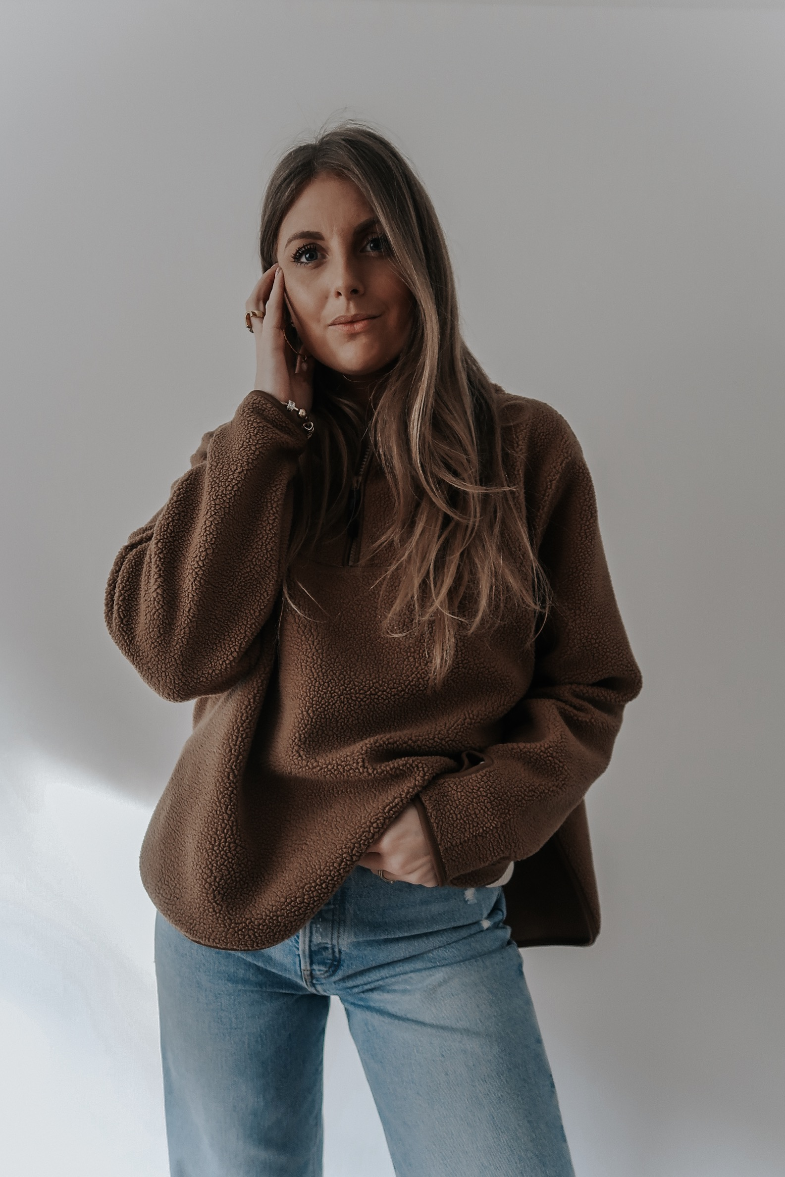 Shopping Edit - Arket Brown Fleece - Sinead Crowe