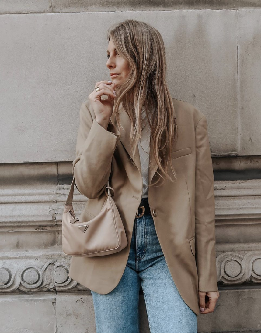 Winter Outfit Ideas - Arket Tan Blazer