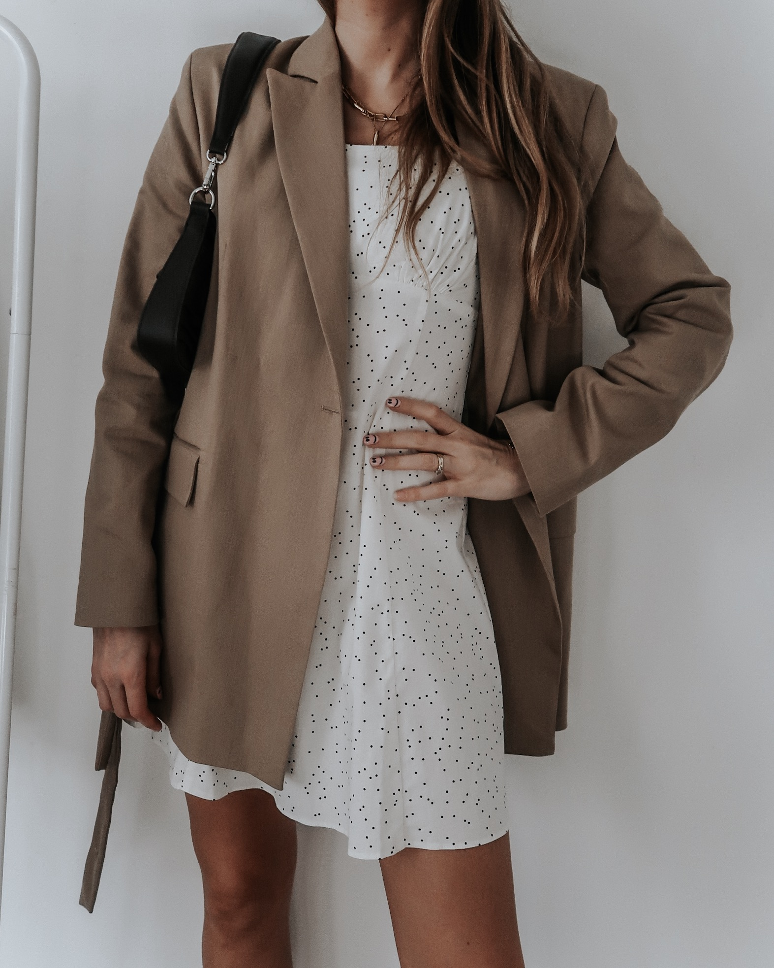 Sinead Crowe Fashion Favourites - Topshop Tan Blazer - Spring Outfit Idea