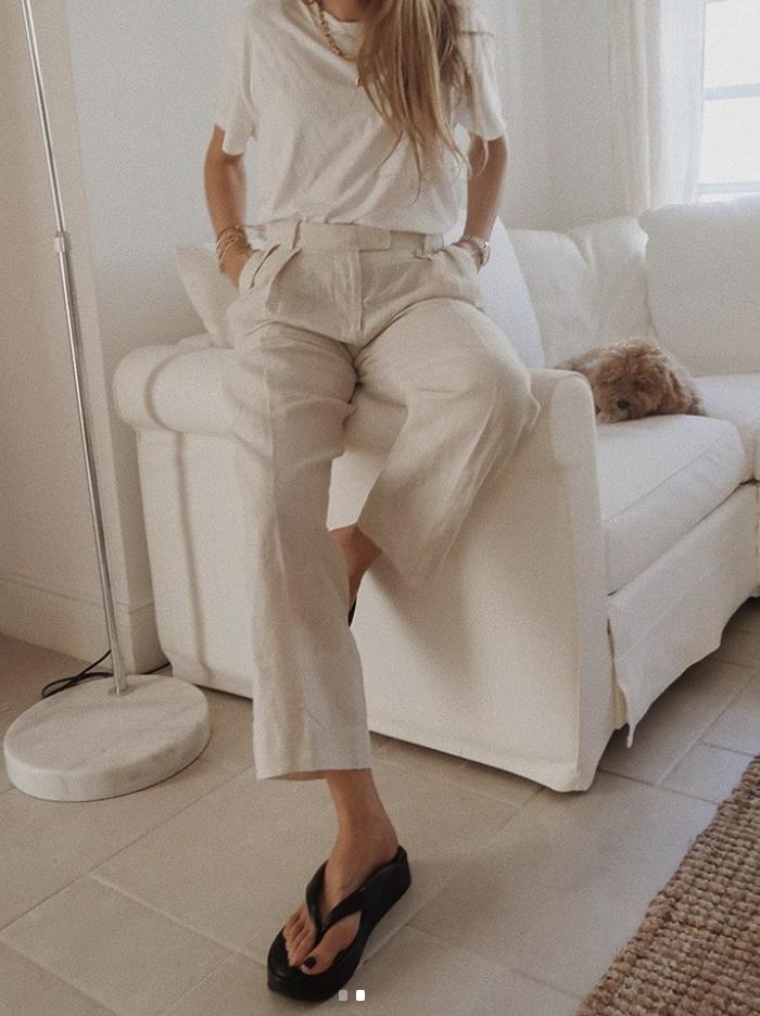 Arket Linen Trousers - Sinead Crowe