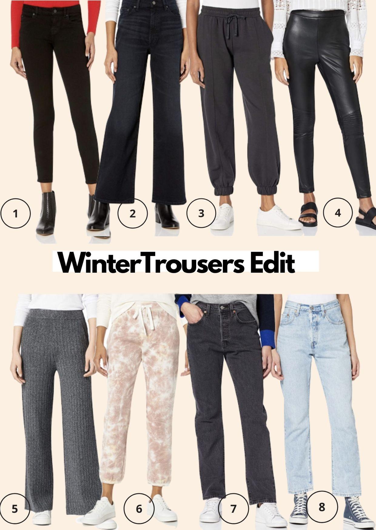 Amazon Fashion Winter Trousers Edit