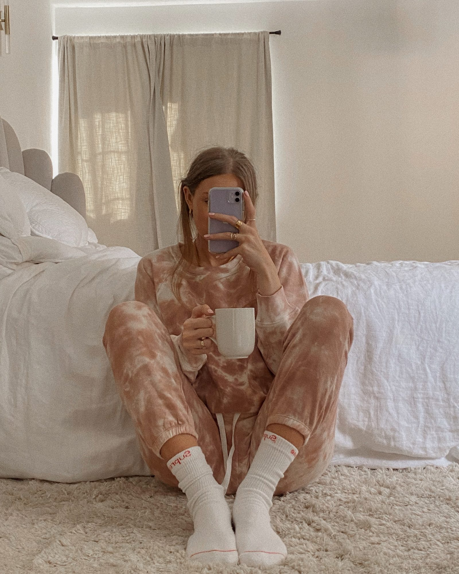 Amazon Loungewear - Pink Tye dye Tracksuit Loungewear