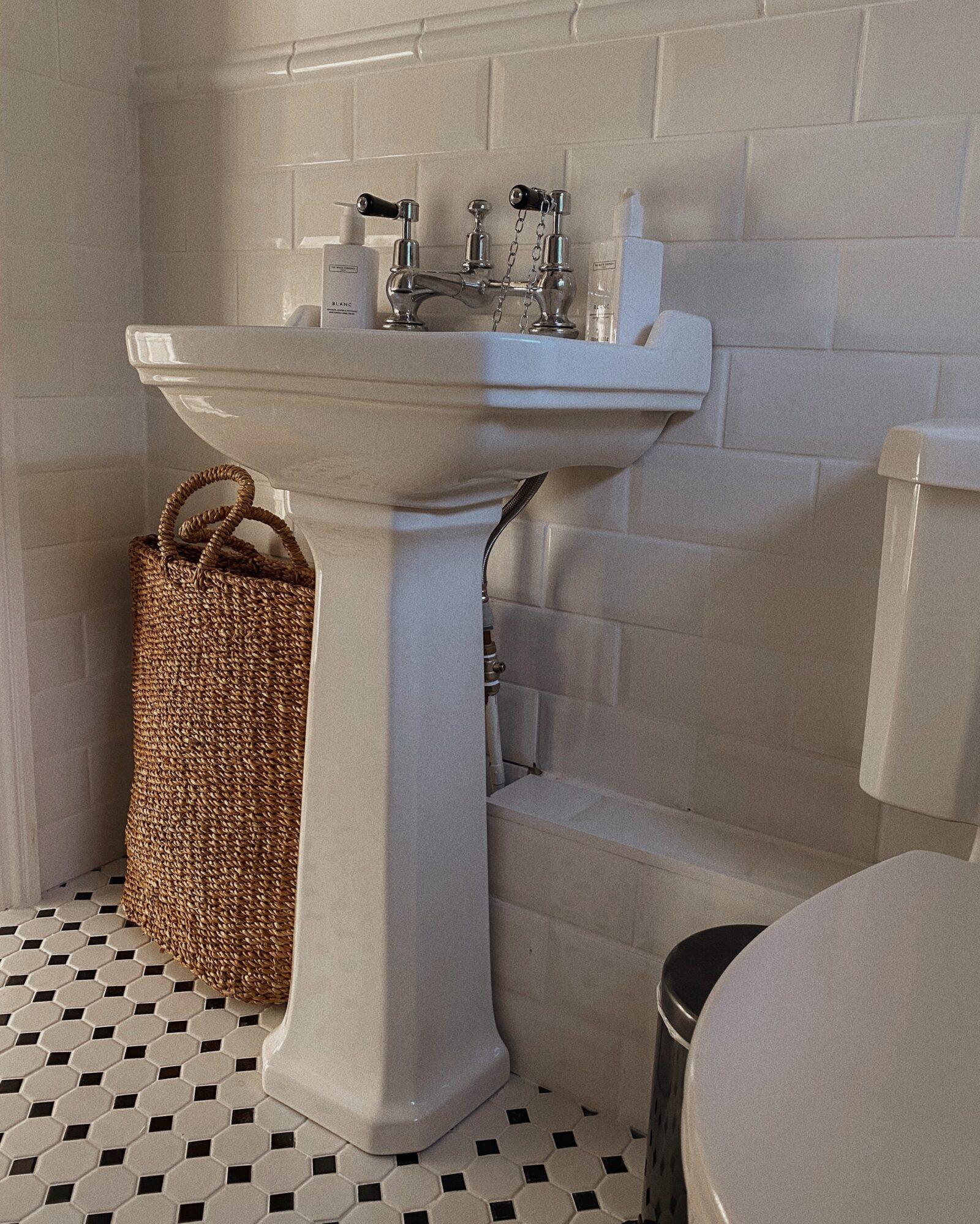 DIY Bathroom Makeover - Topps Tiles Monochrome Tiles