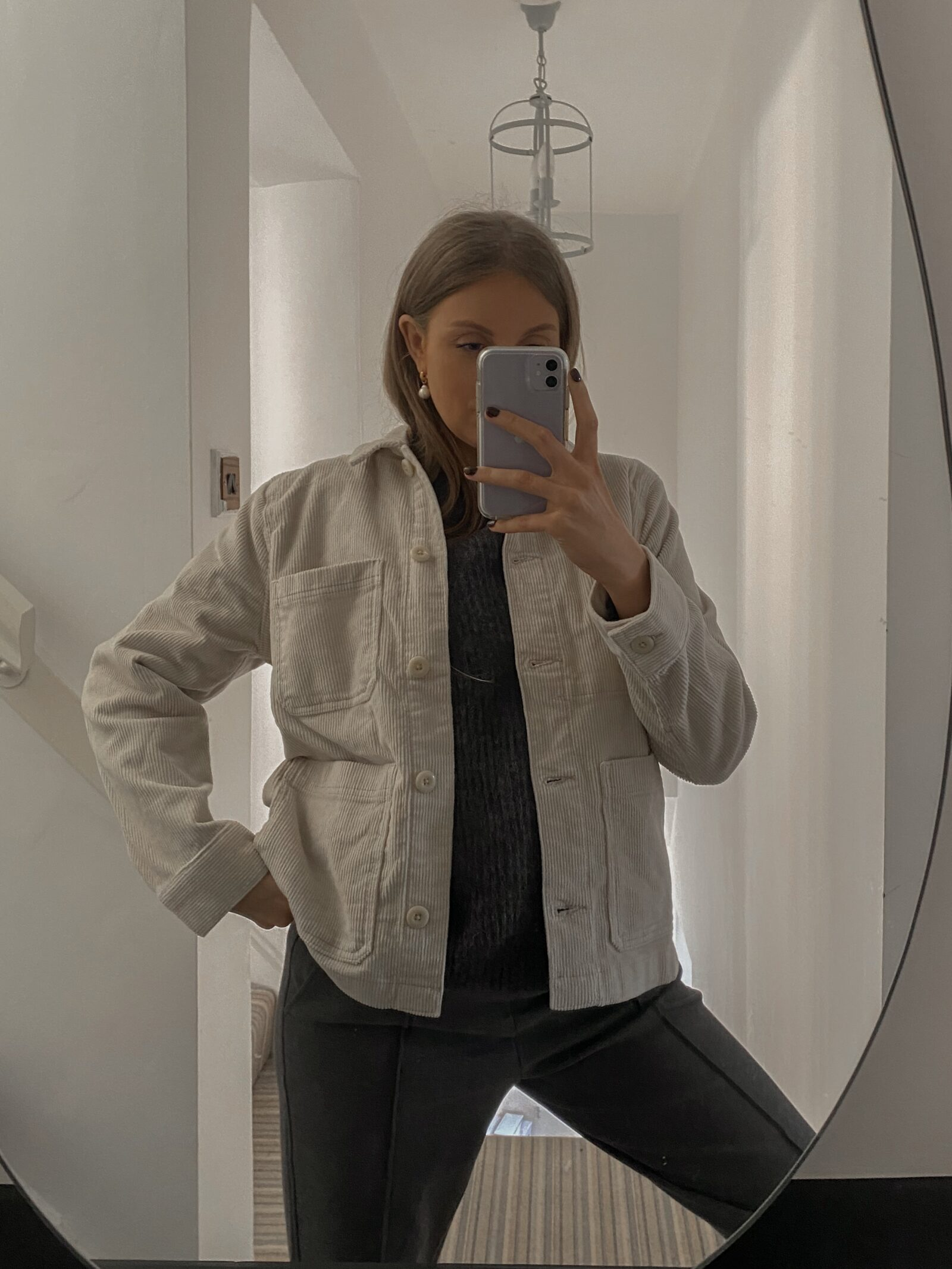 Winter Everlane Haul 2020 - Cream Shacket